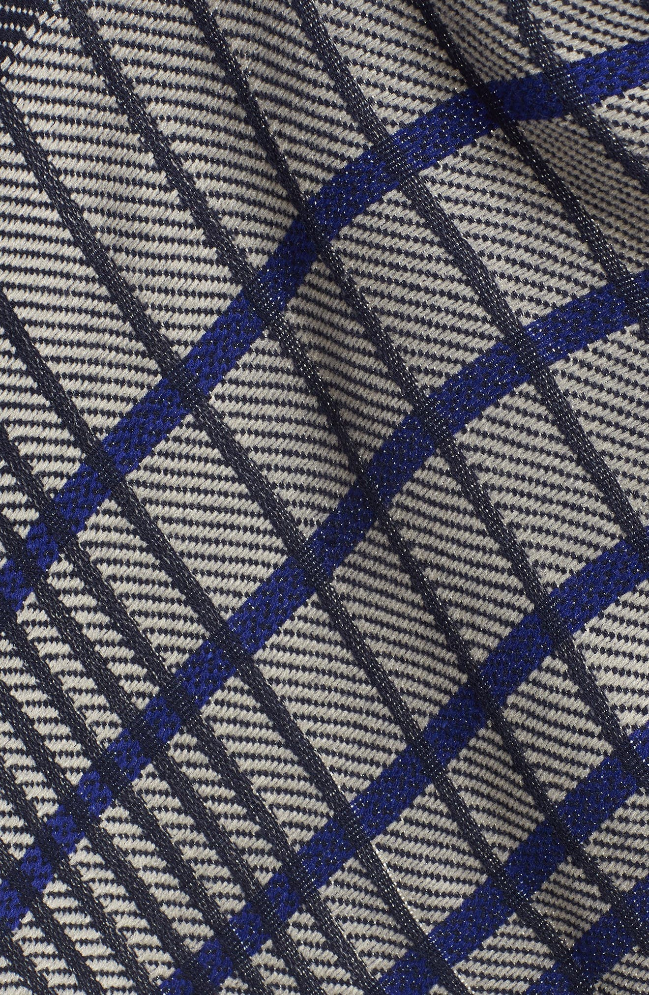 Plaid Blanket Wrap,                             Alternate thumbnail 5, color,                             NAVY COMBO