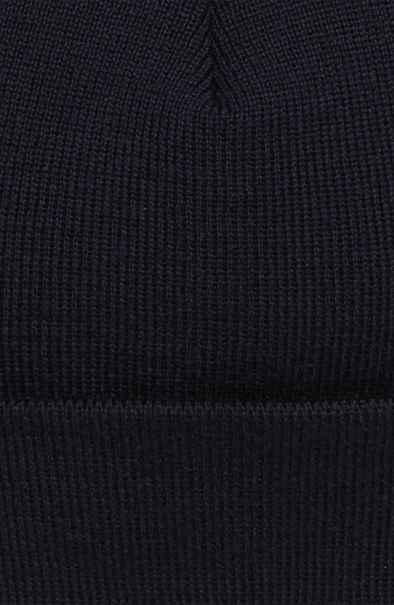 Merino Wool Beanie,                             Alternate thumbnail 2, color,                             BLUE