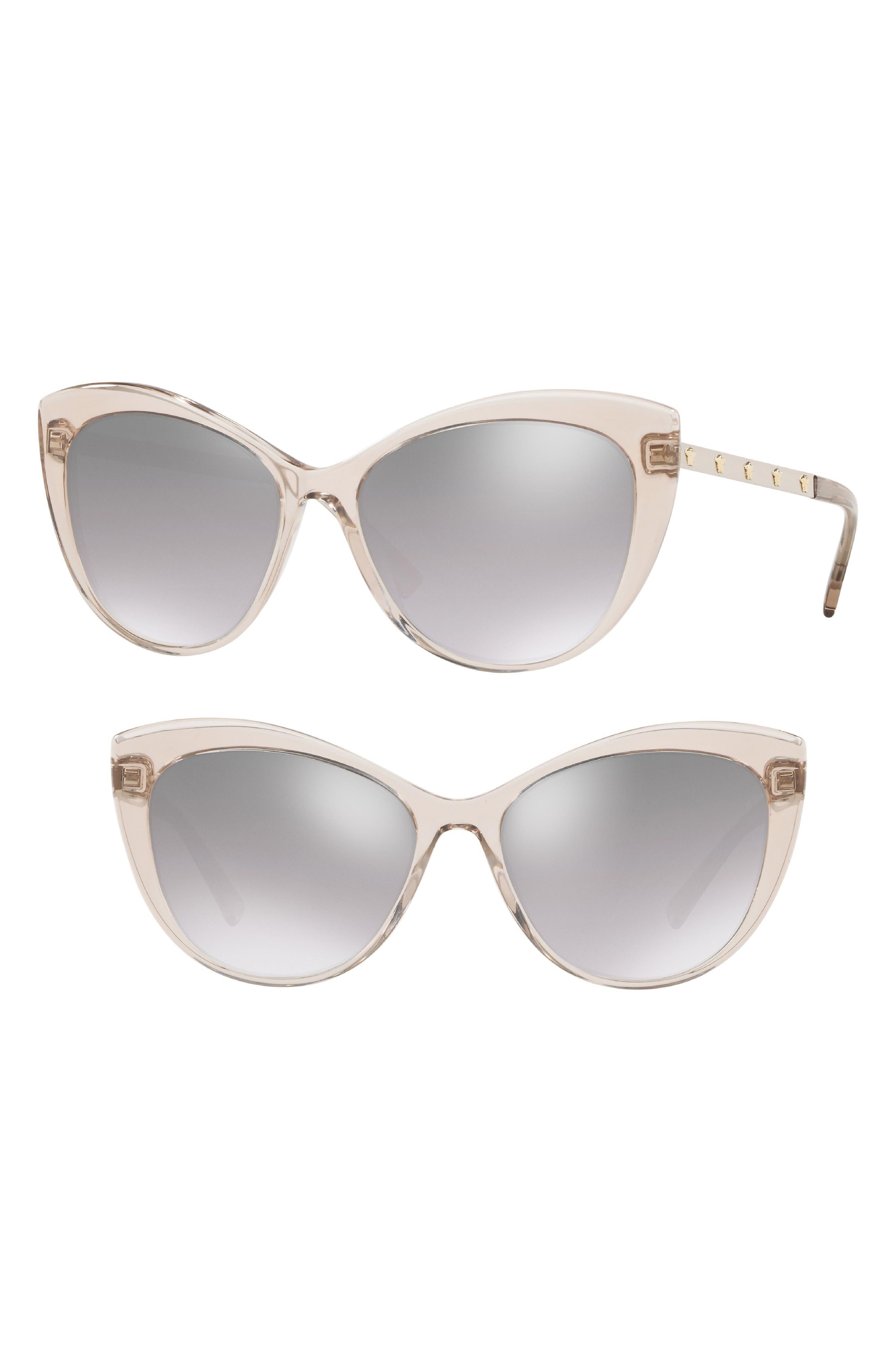 615da103127d Versace Medusa 57Mm Cat Eye Sunglasses - Grey  Silver Gradient Mirror