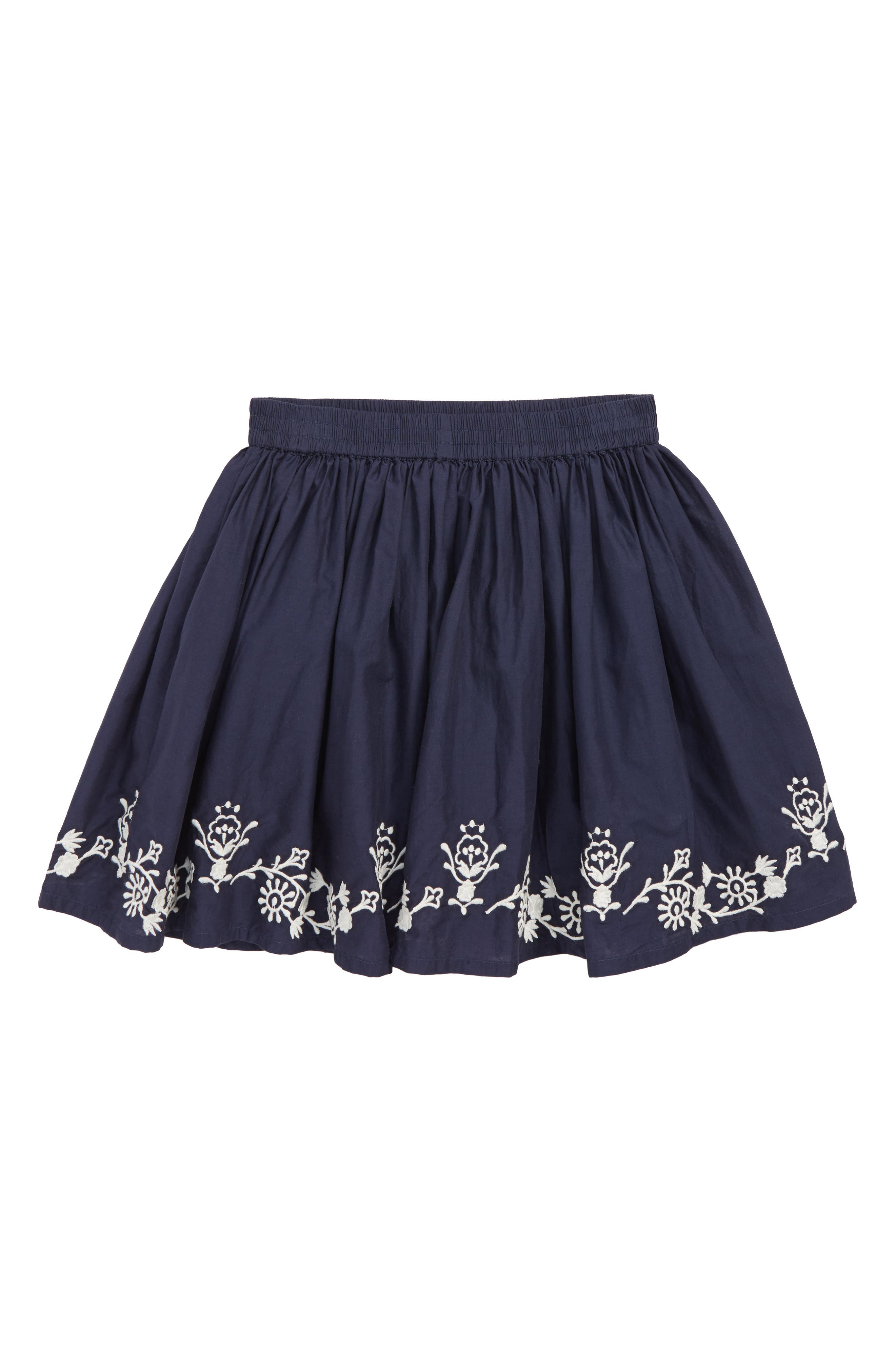 Embroidered Skirt,                         Main,                         color, NAVY PEACOAT