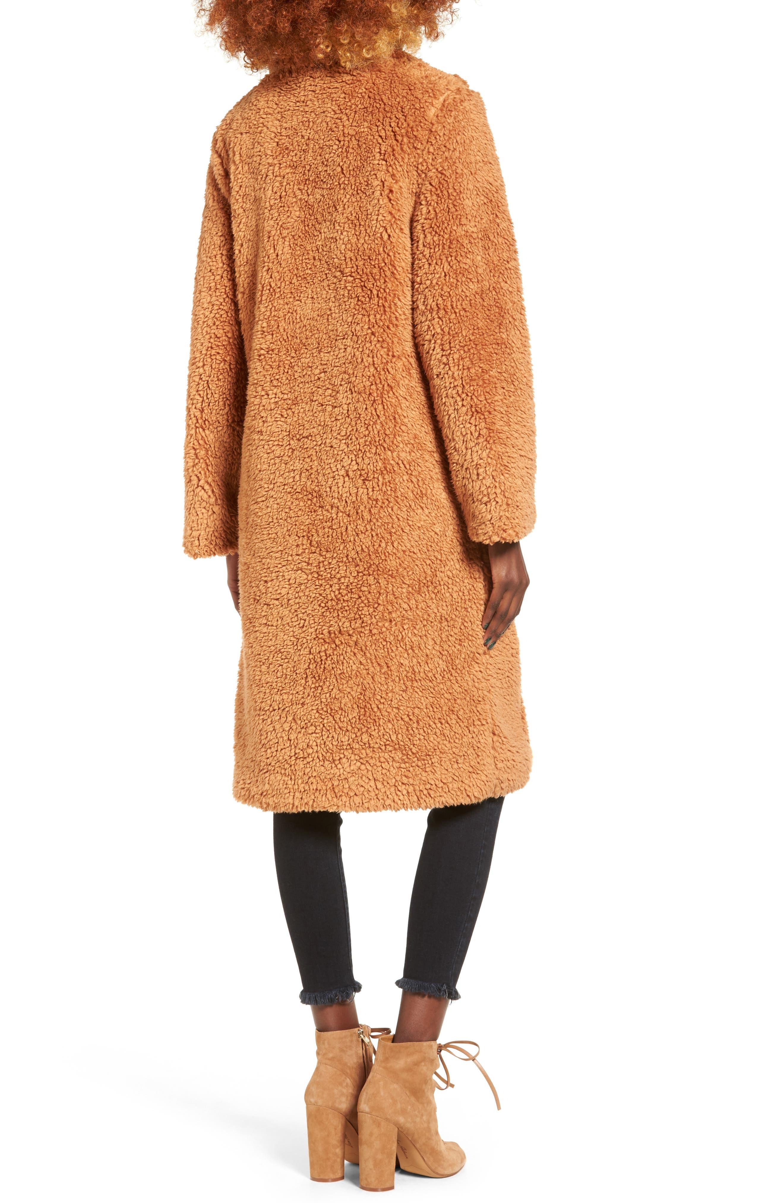 Violet Teddy Bear Coat,                             Alternate thumbnail 6, color,