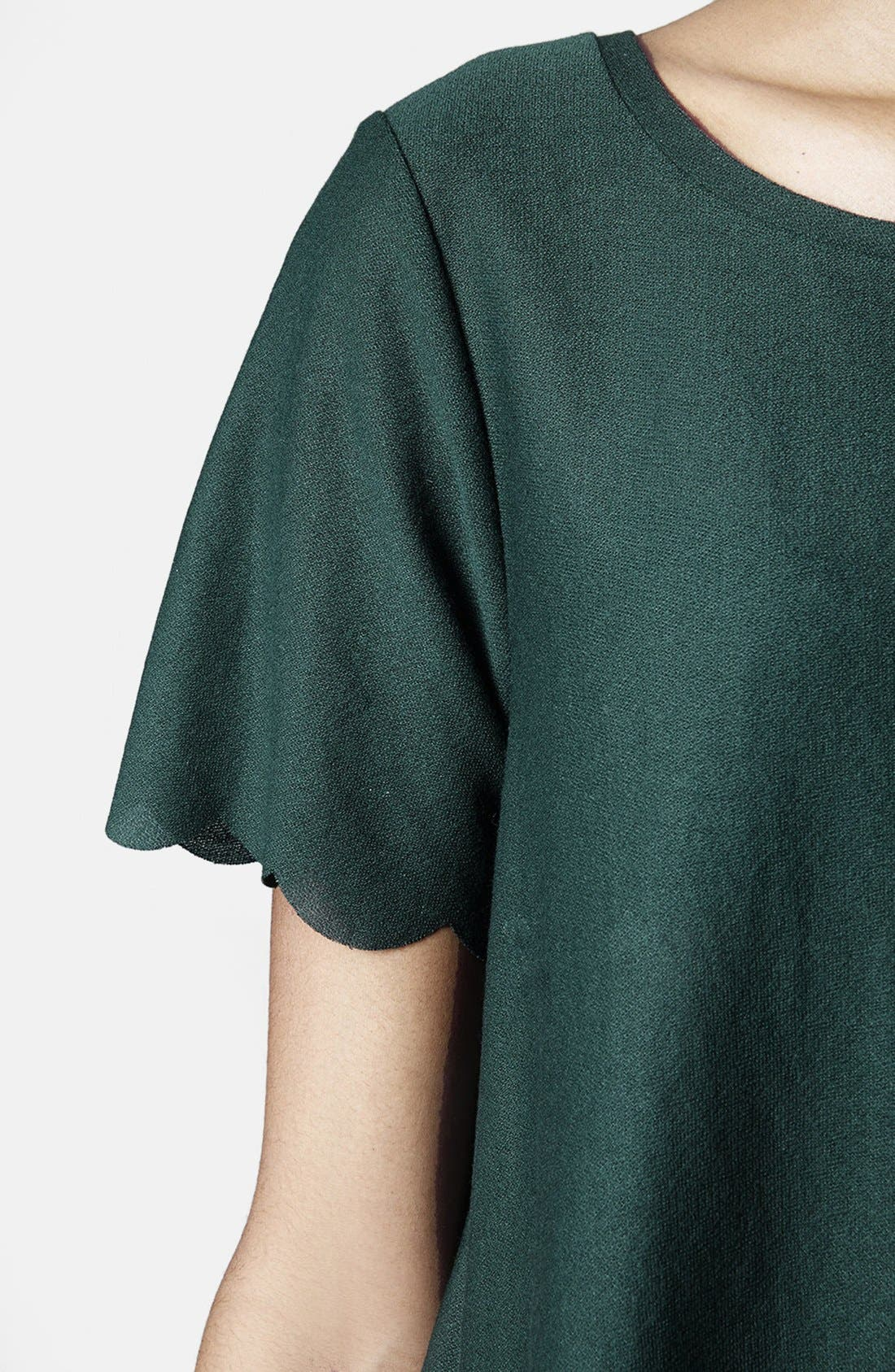 Scallop Frill Tee,                             Alternate thumbnail 27, color,