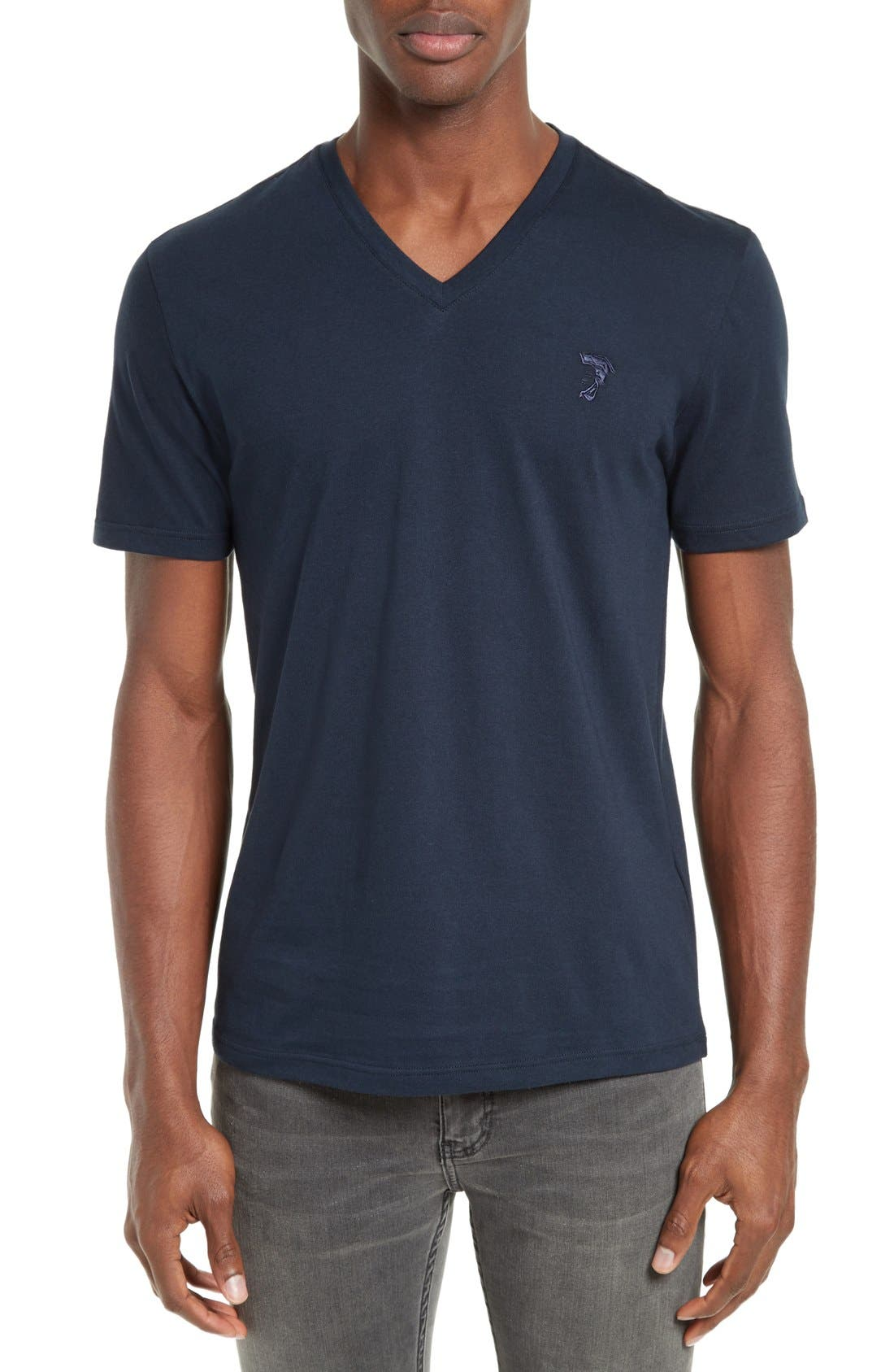 Medusa V-Neck T-Shirt, Main, color, 410