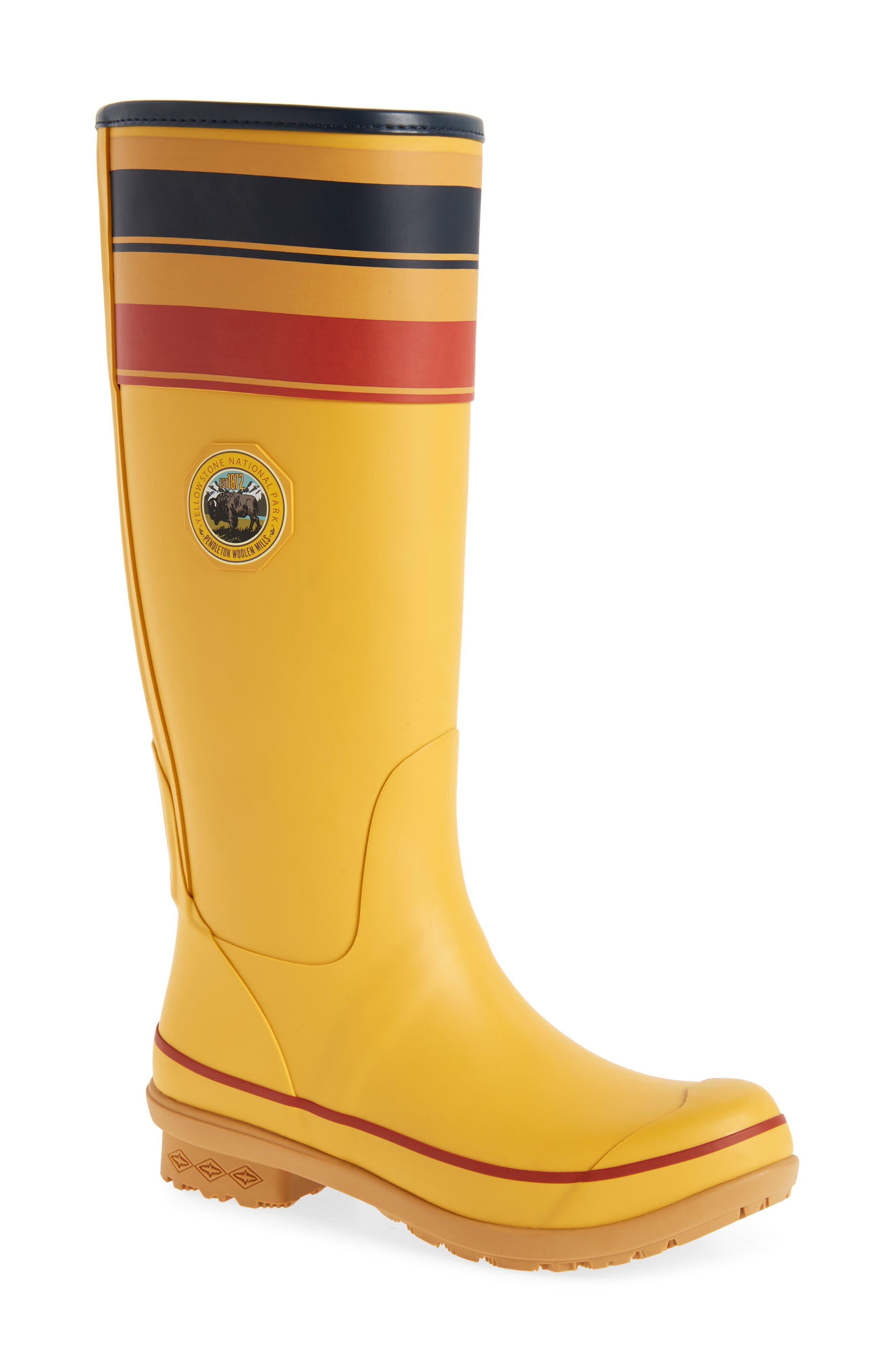 Pendleton Yellowstone National Park Tall Rain Boot,                         Main,                         color, YELLOW