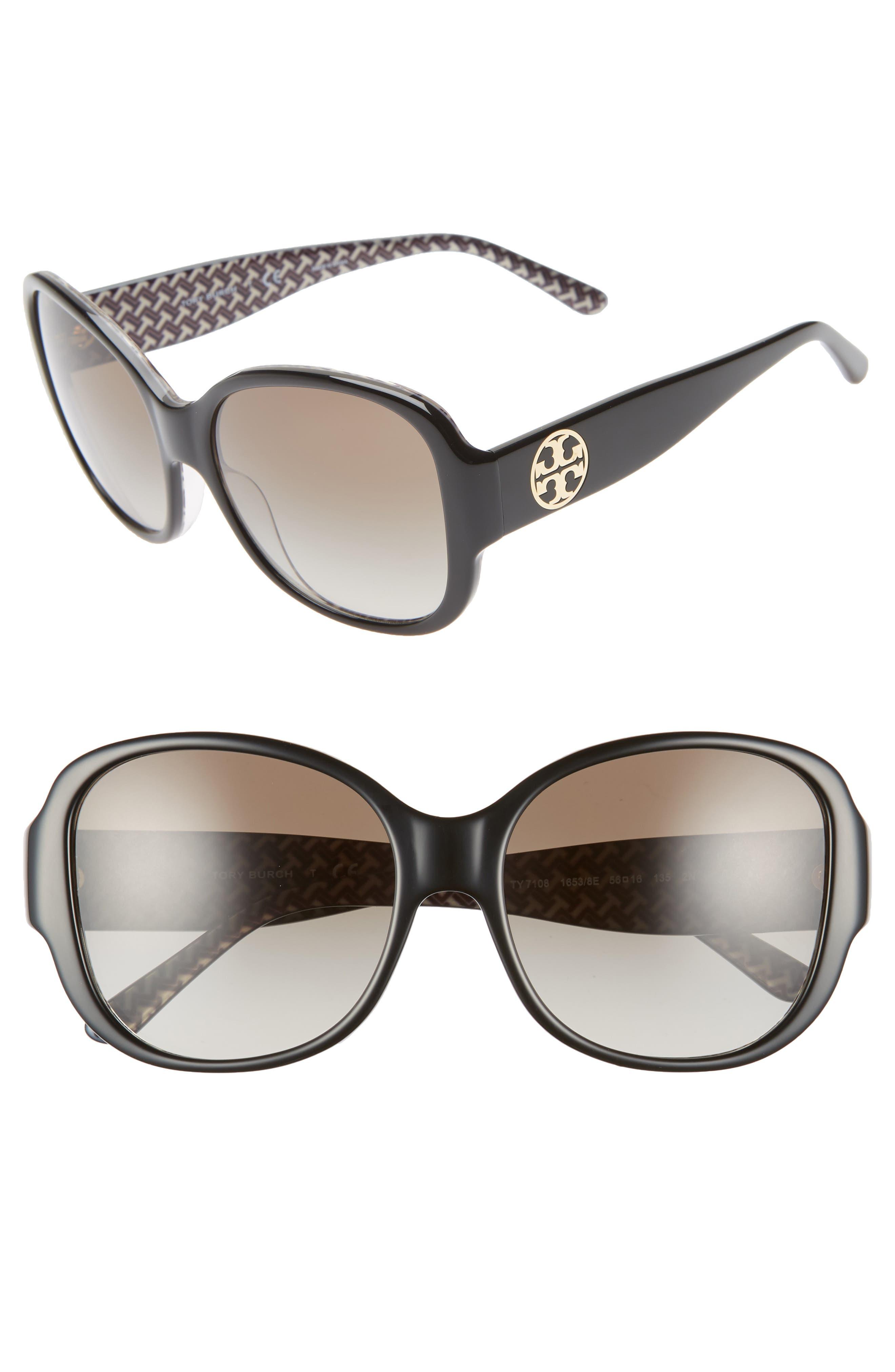 56mm Gradient Retro Sunglasses,                             Main thumbnail 1, color,                             009