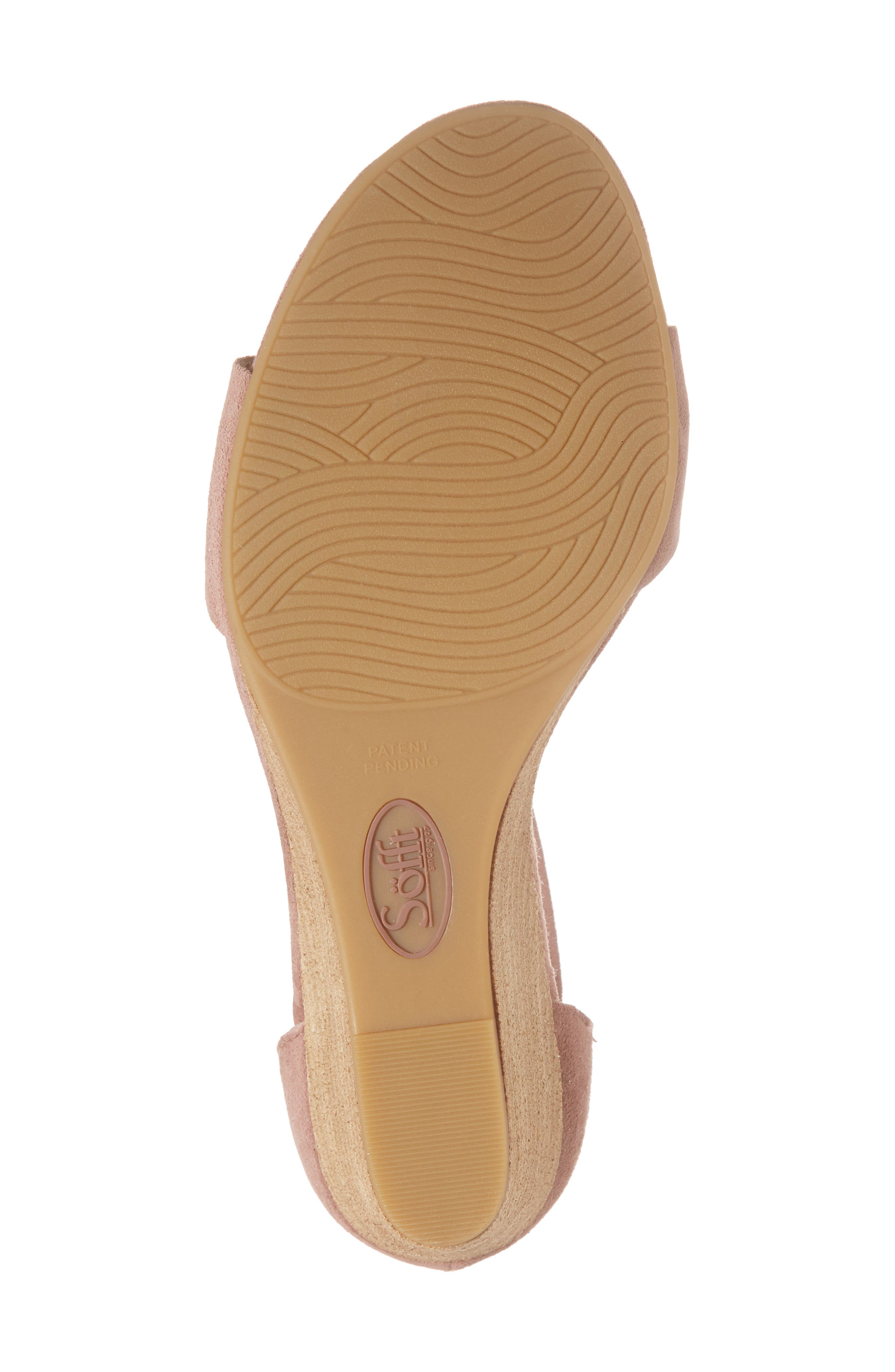 Marla Wedge Sandal,                             Alternate thumbnail 6, color,                             MULBERRY SUEDE
