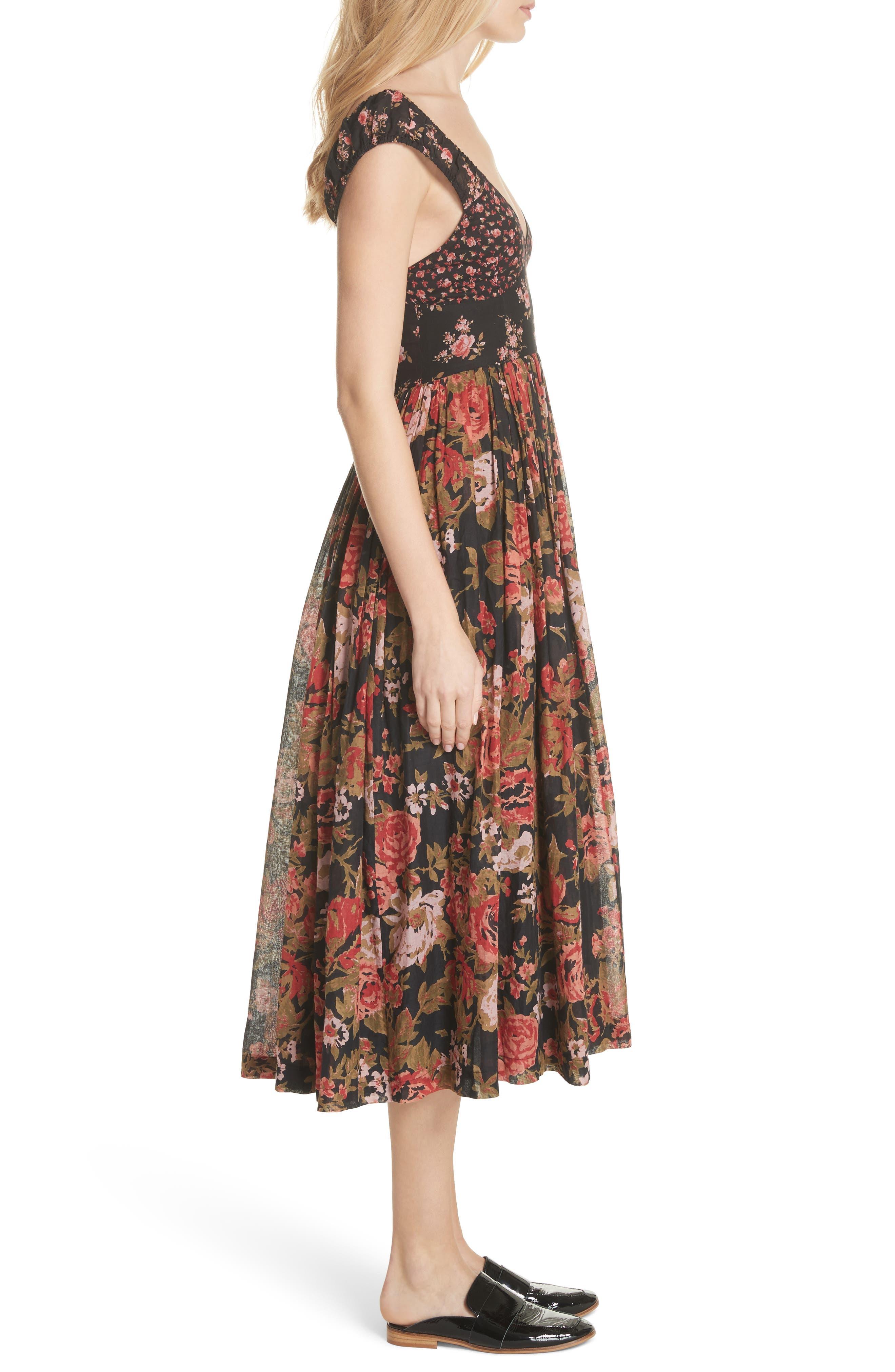 Love You Midi Dress,                             Alternate thumbnail 3, color,                             001