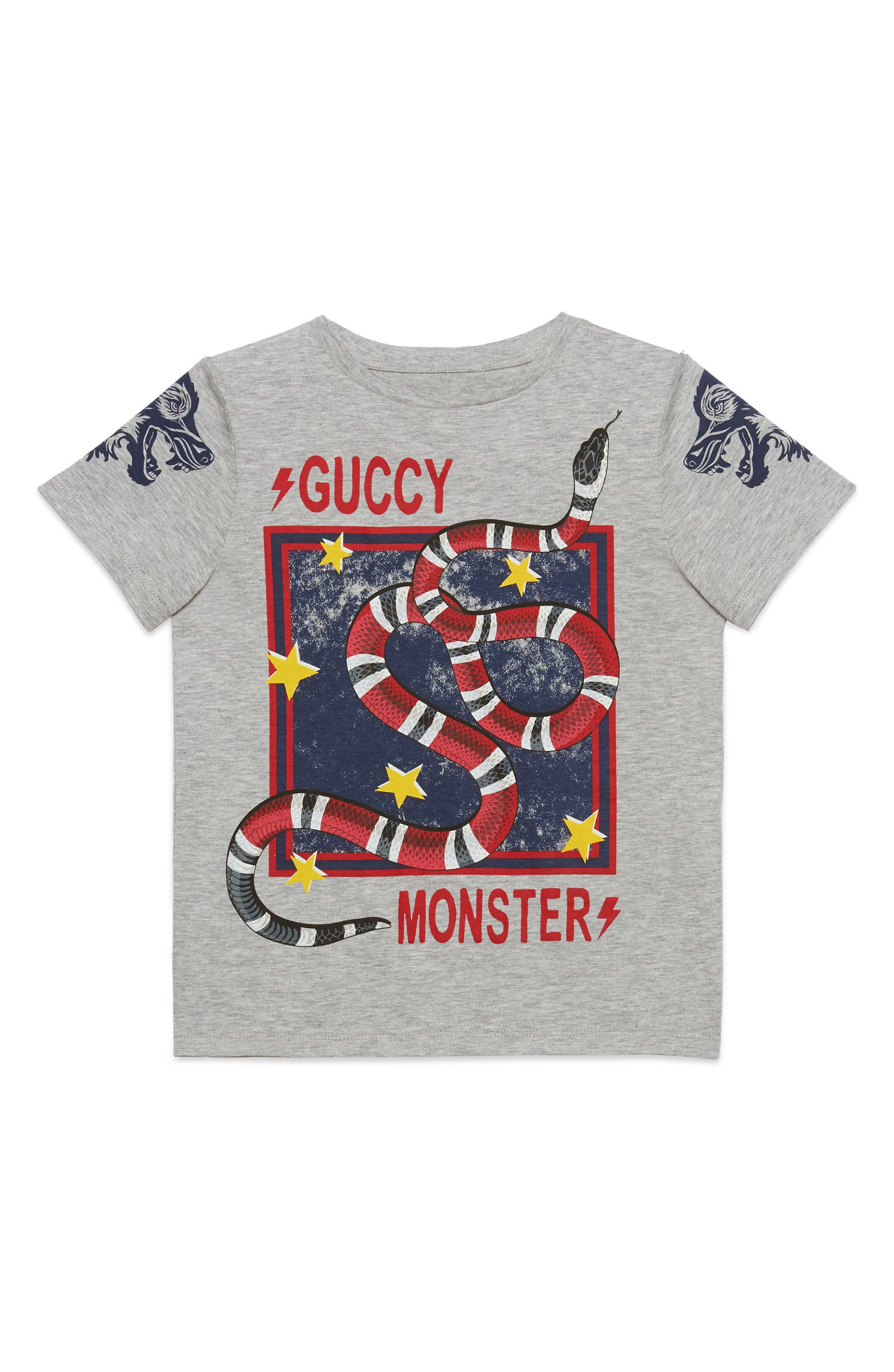 GUCCI Guccy Monster & King Snake Graphic T-Shirt, Main, color, 020