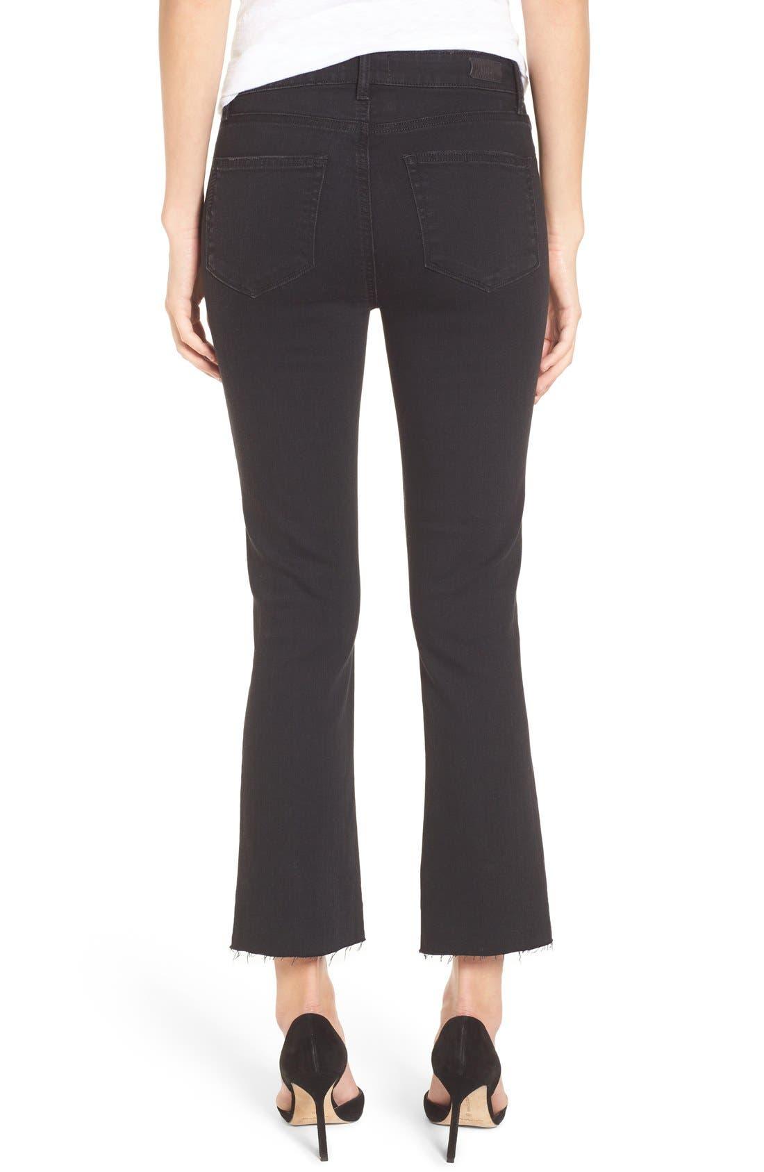 Colette High Waist Raw Hem Crop Flare Jeans,                             Alternate thumbnail 2, color,                             001
