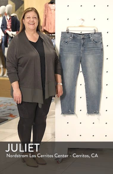 Ginger Fringed Hem Skinny Jeans, sales video thumbnail