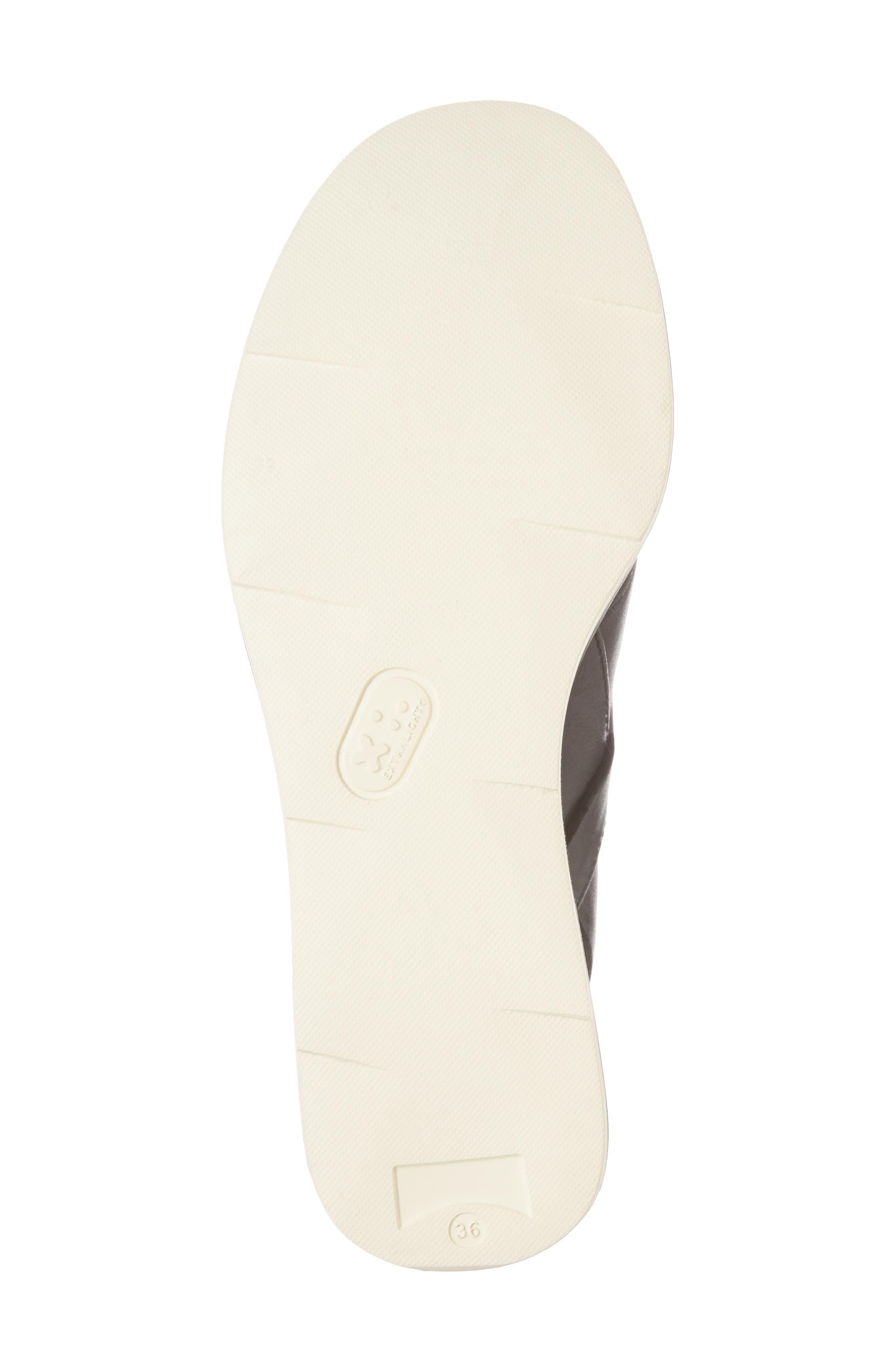 Tropik Cross Strap Wedge Sandal,                             Alternate thumbnail 6, color,                             BLACK LEATHER