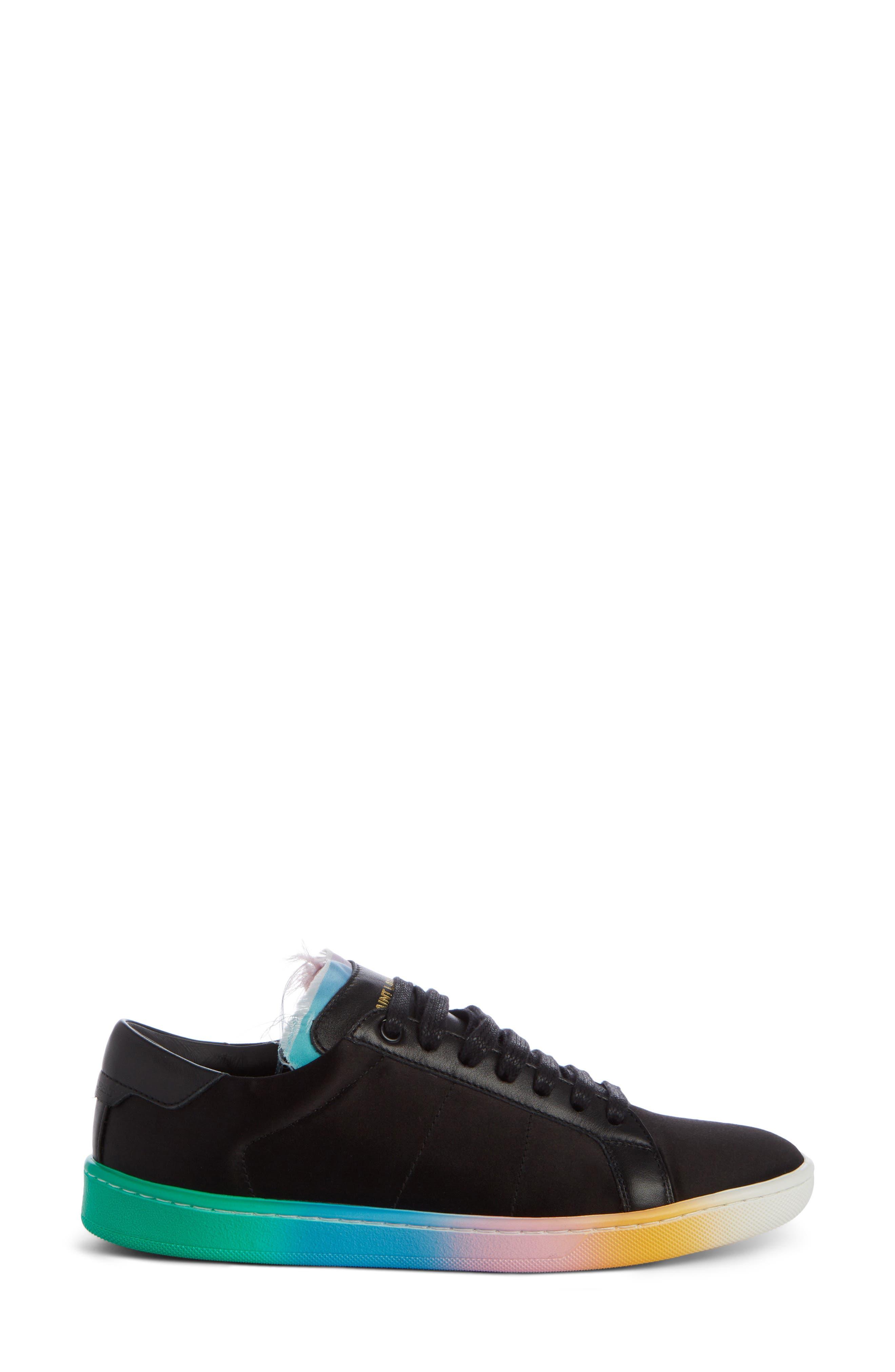 Court Classic Rainbow Sole Sneaker,                             Alternate thumbnail 3, color,                             001