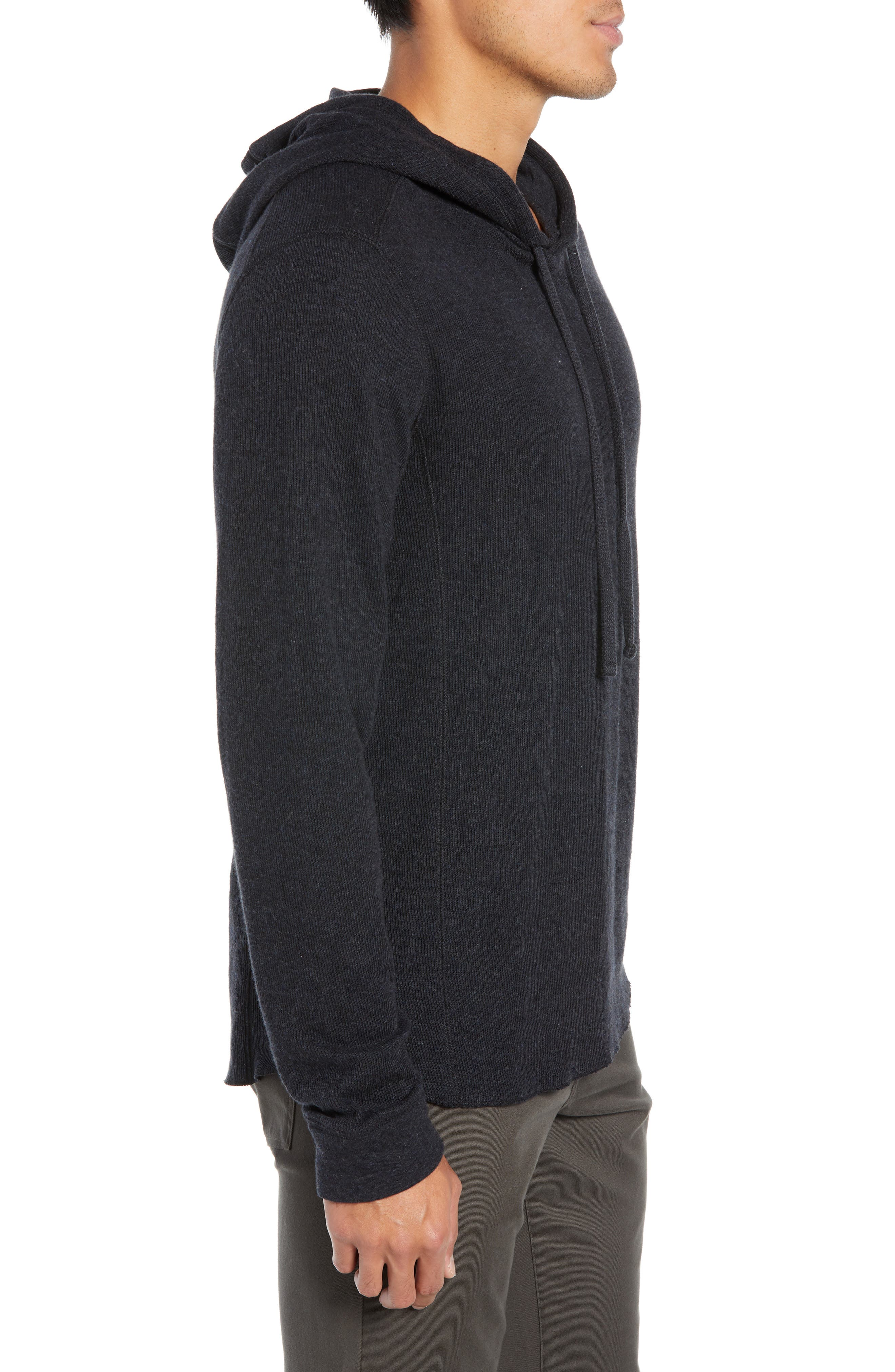 Double Knit Hoodie,                             Alternate thumbnail 3, color,                             H MANHATTAN NAVY