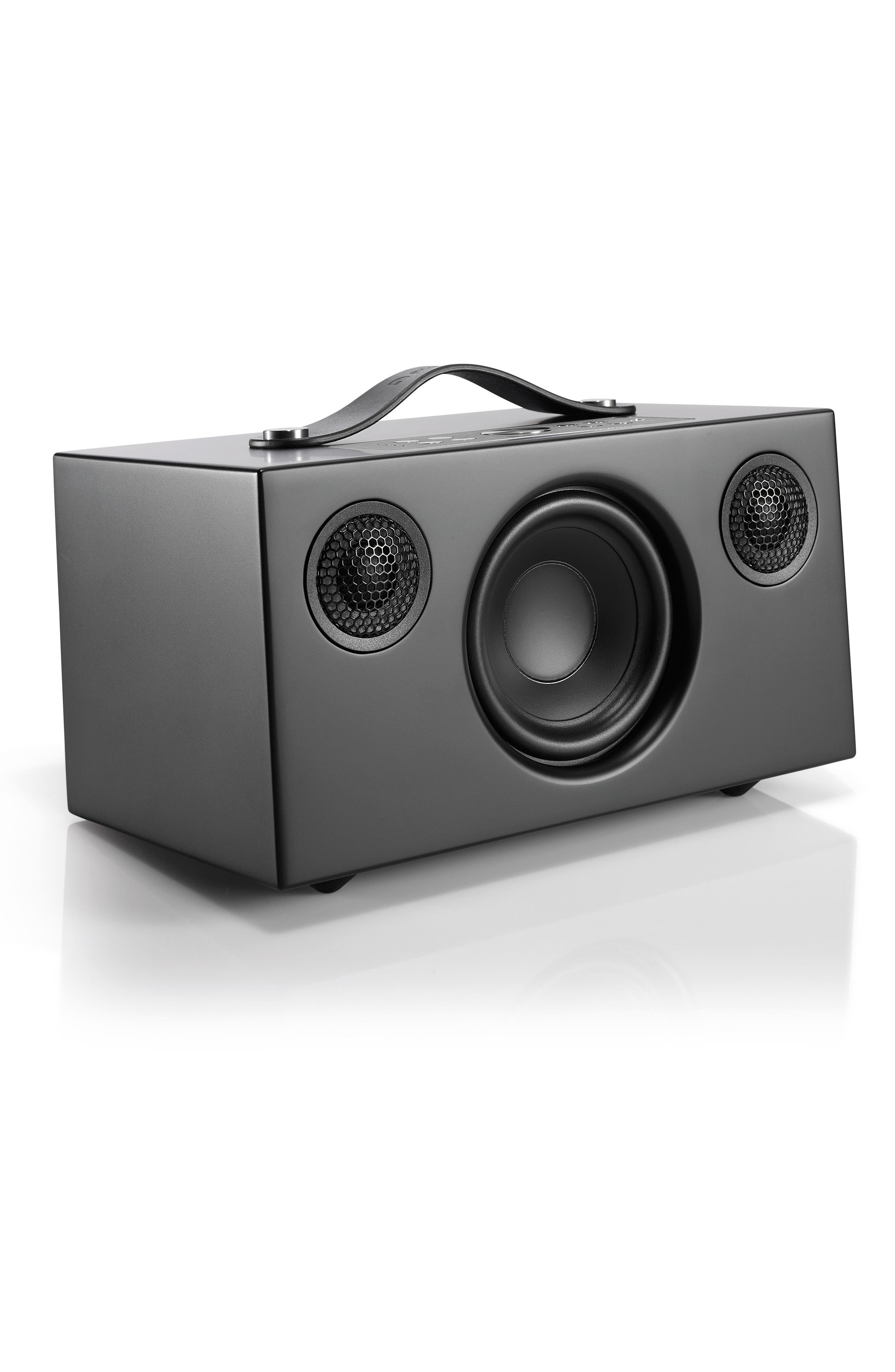 Addon C5 Wi-Fi Multi Room Bluetooth<sup>®</sup> Speaker,                             Alternate thumbnail 3, color,                             COAL BLACK