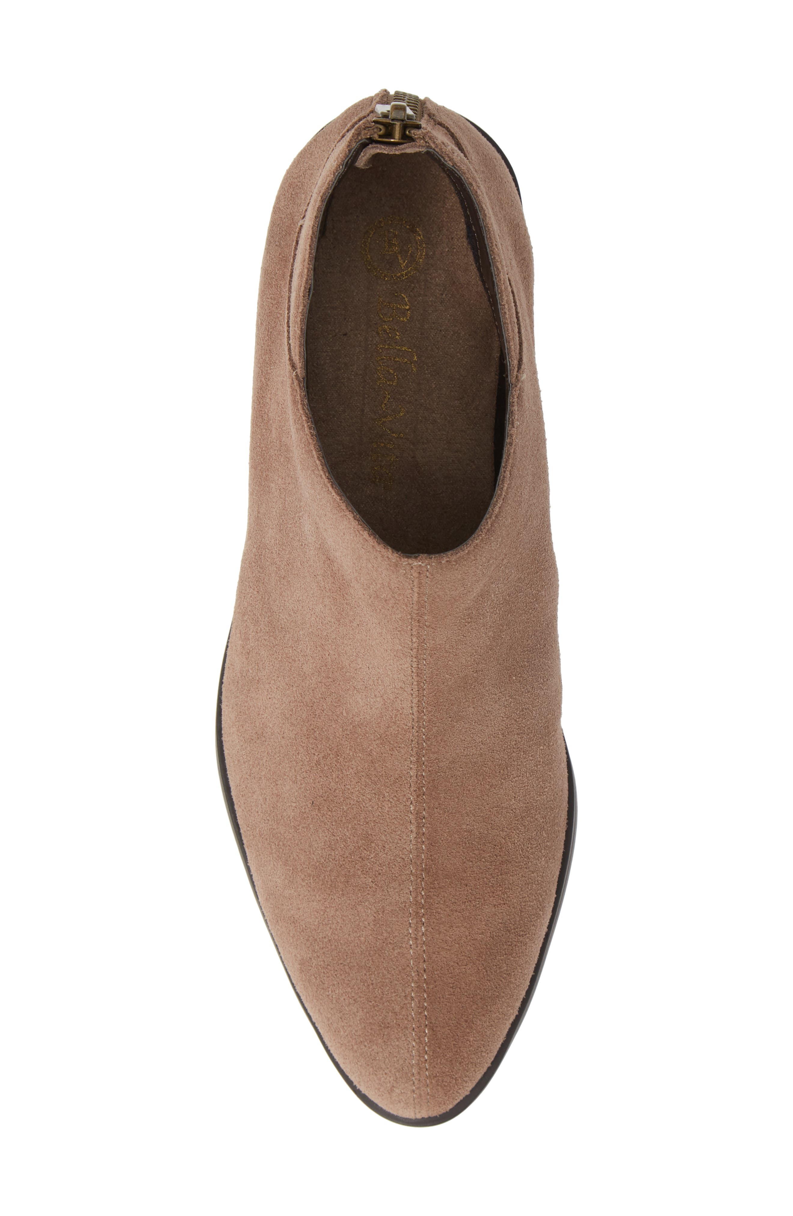 Haven Ankle Bootie,                             Alternate thumbnail 5, color,                             ALMOND SUEDE