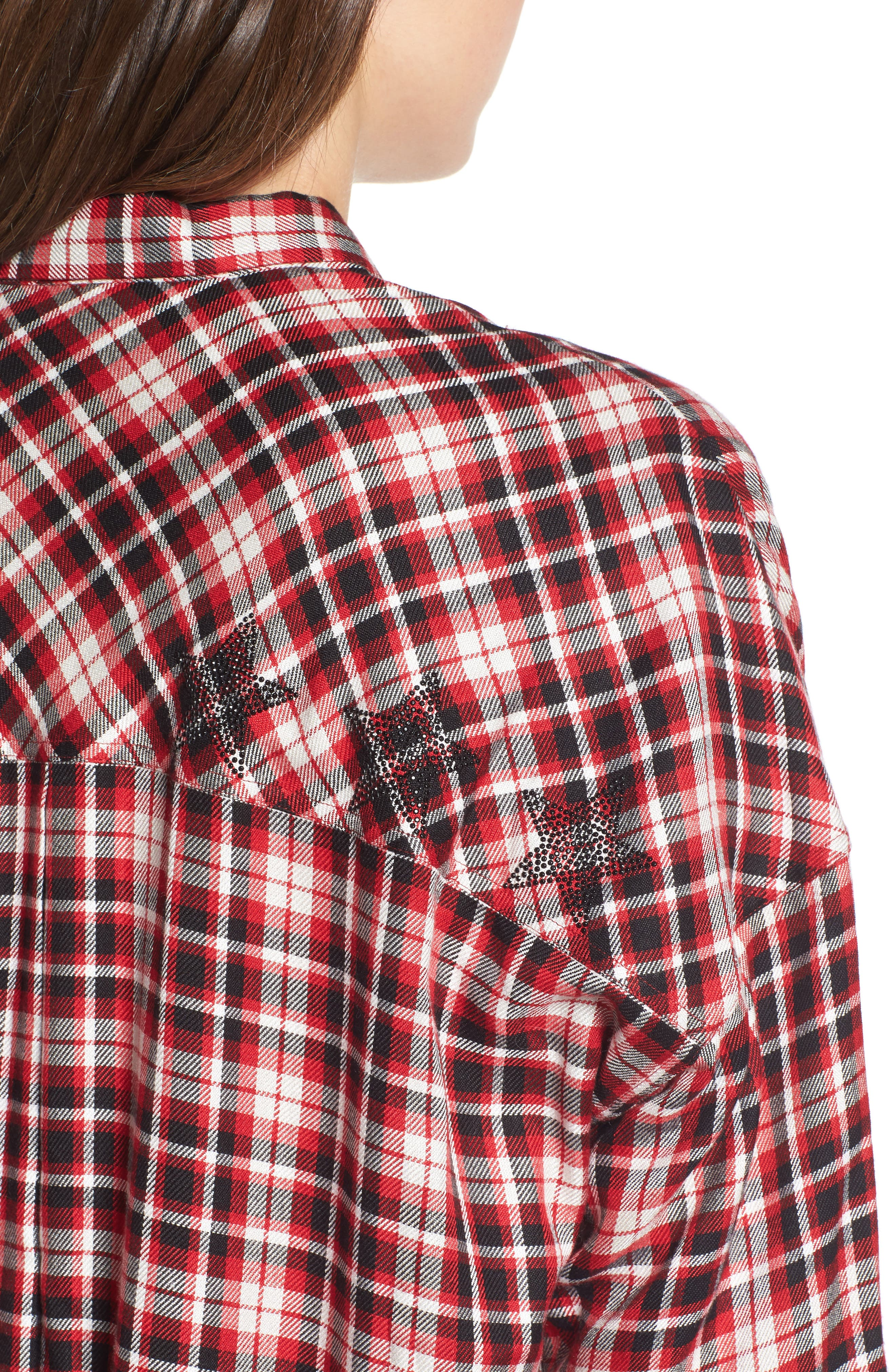 Tamara Car Plaid Shirt,                             Alternate thumbnail 4, color,