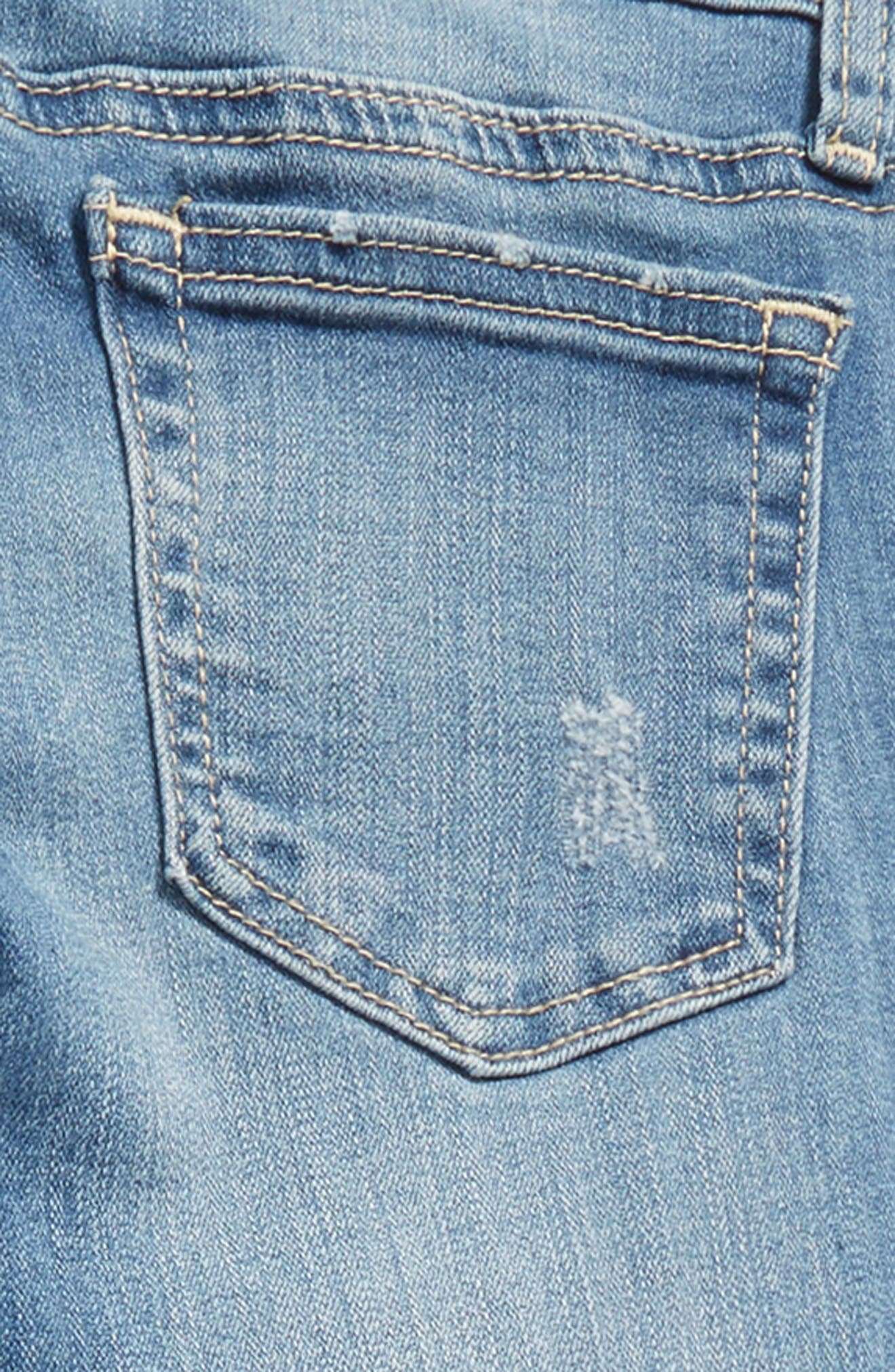 Distressed Cuffed Jeans,                             Alternate thumbnail 3, color,                             492