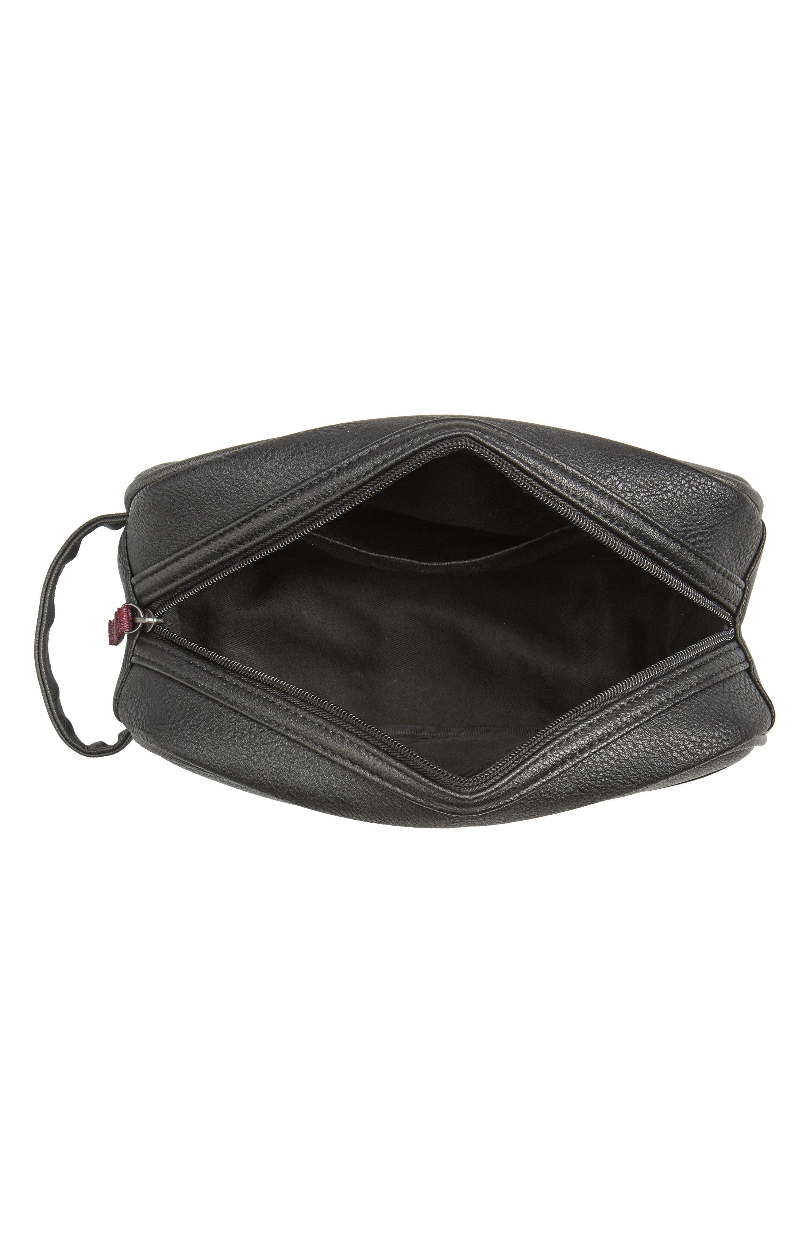 Pidgy Faux Leather Travel Kit,                             Alternate thumbnail 3, color,                             001