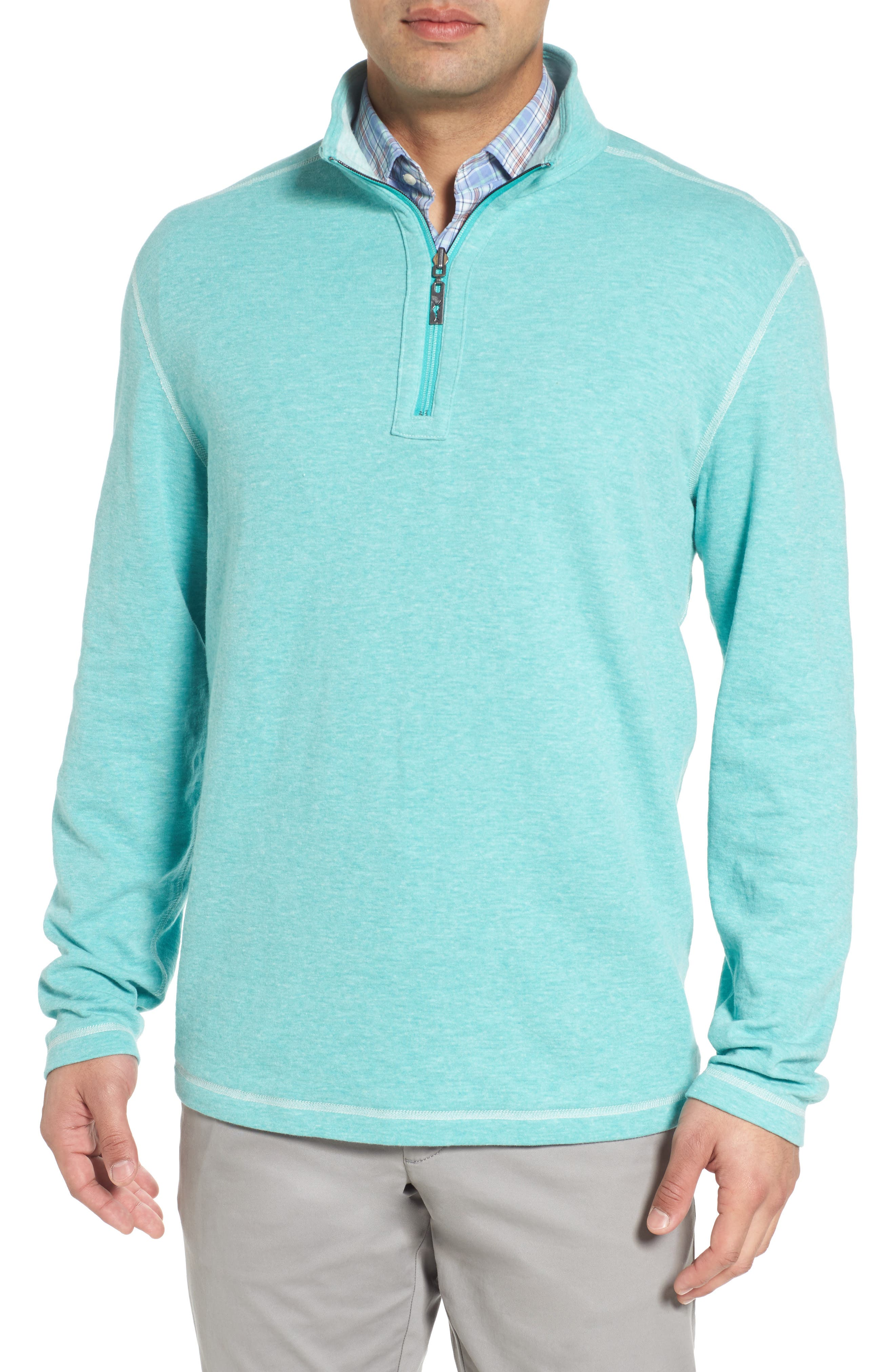 Sea Glass Reversible Quarter Zip Pullover,                             Alternate thumbnail 38, color,