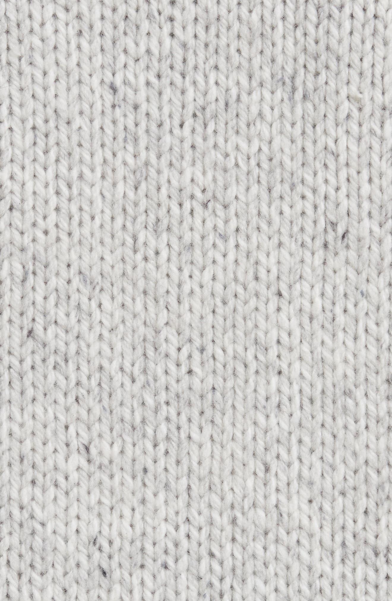 Marled Wool Blend Cardigan,                             Alternate thumbnail 5, color,                             026
