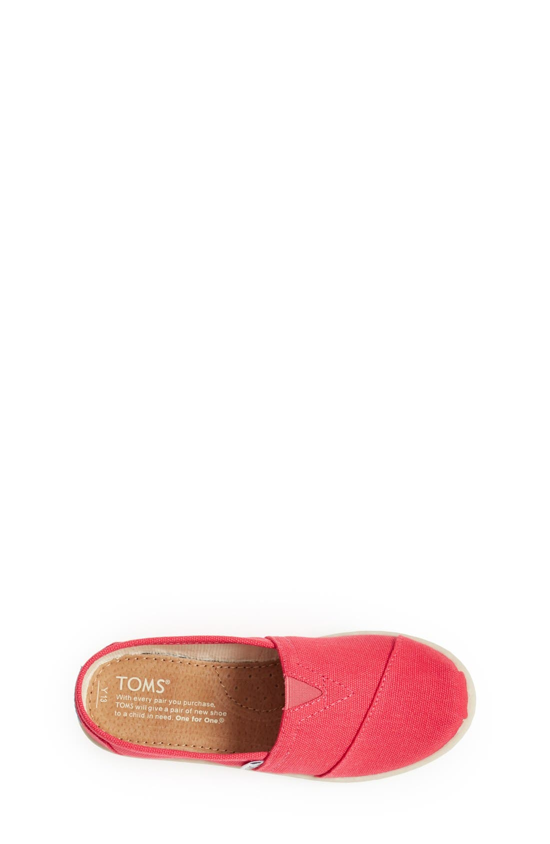 'Classic - Youth' Canvas Slip-On,                             Alternate thumbnail 6, color,
