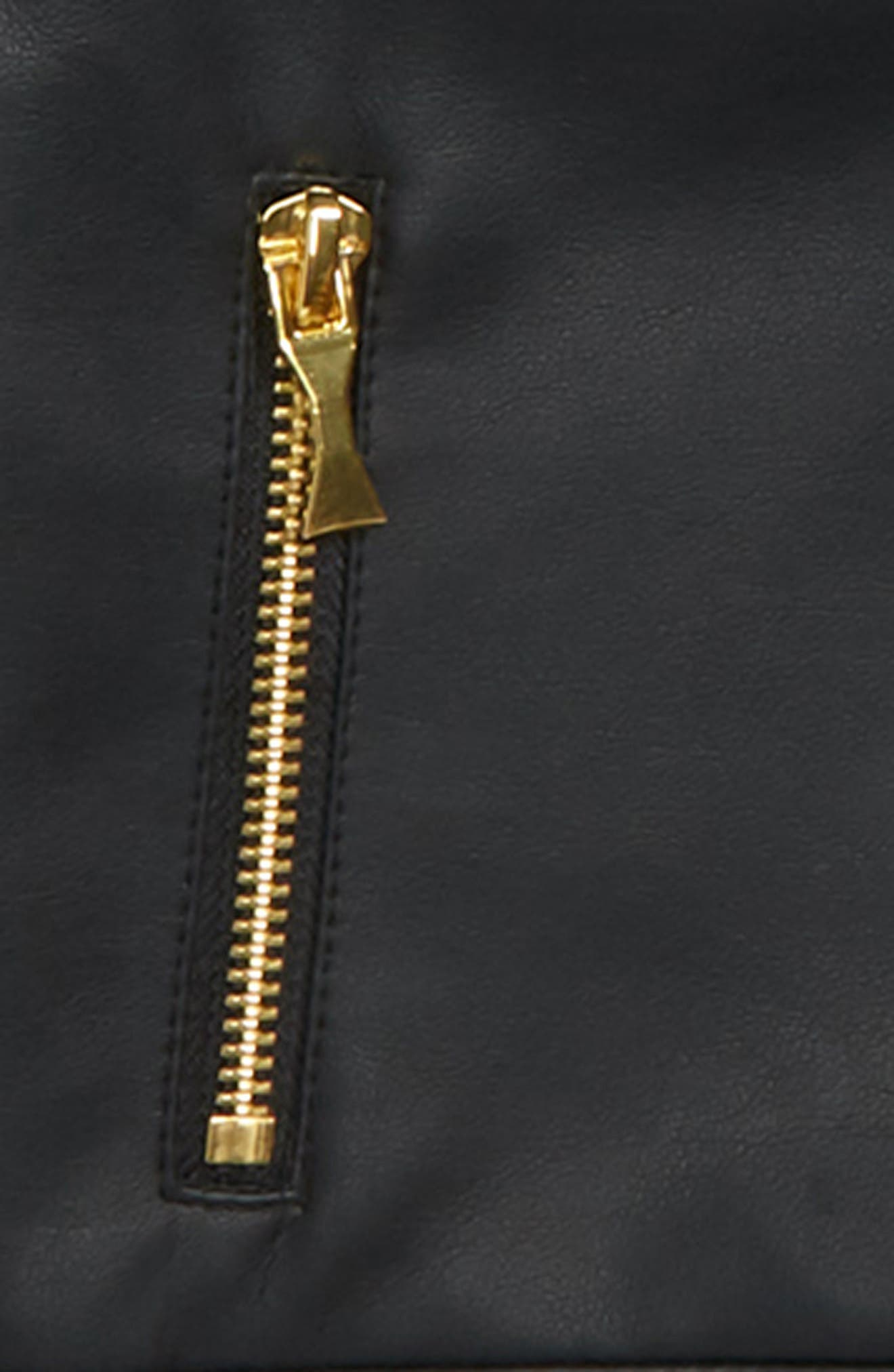 faux leather moto jacket,                             Alternate thumbnail 2, color,