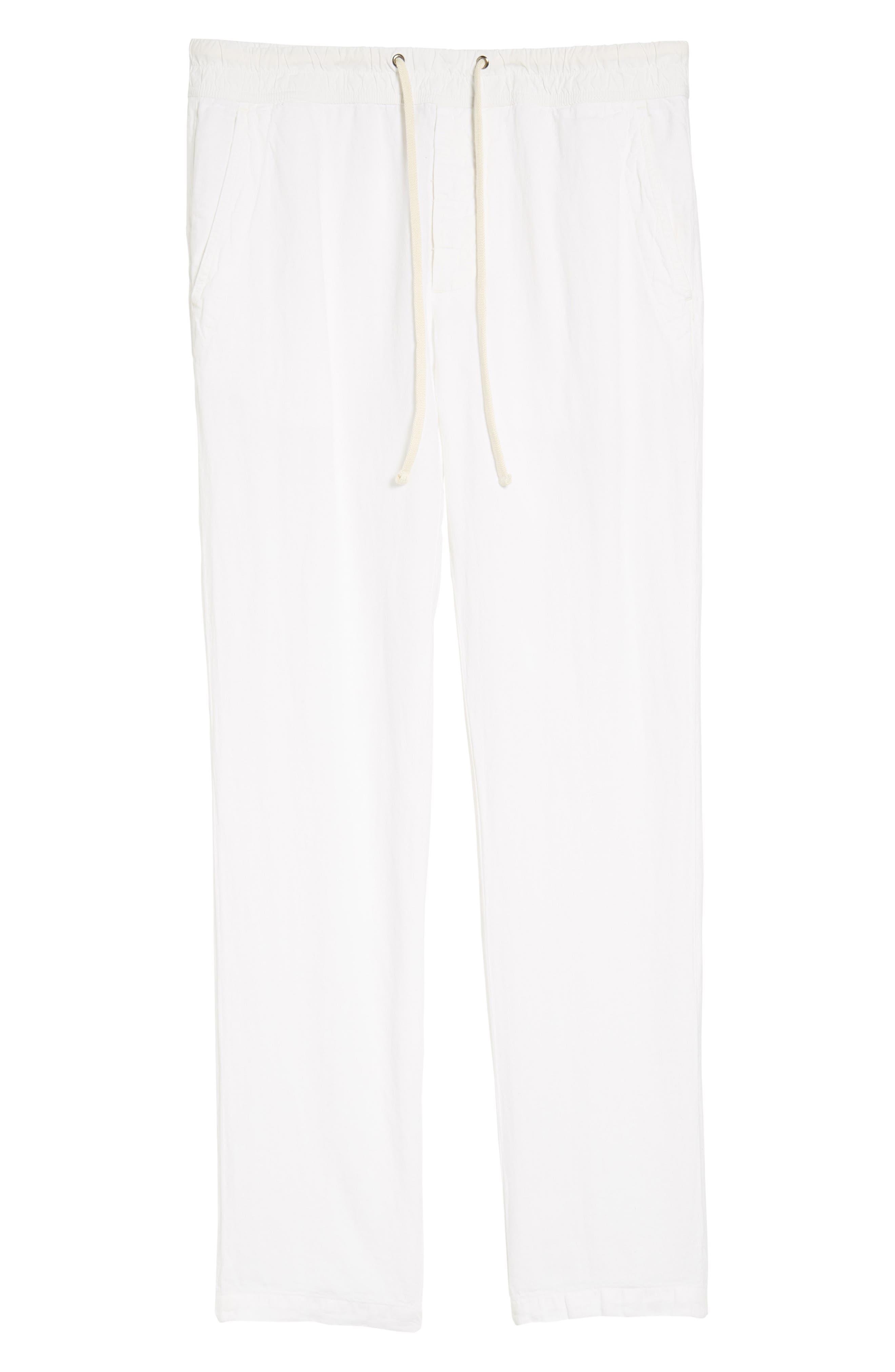 Slim Fit Linen Utility Pants,                             Alternate thumbnail 6, color,                             100