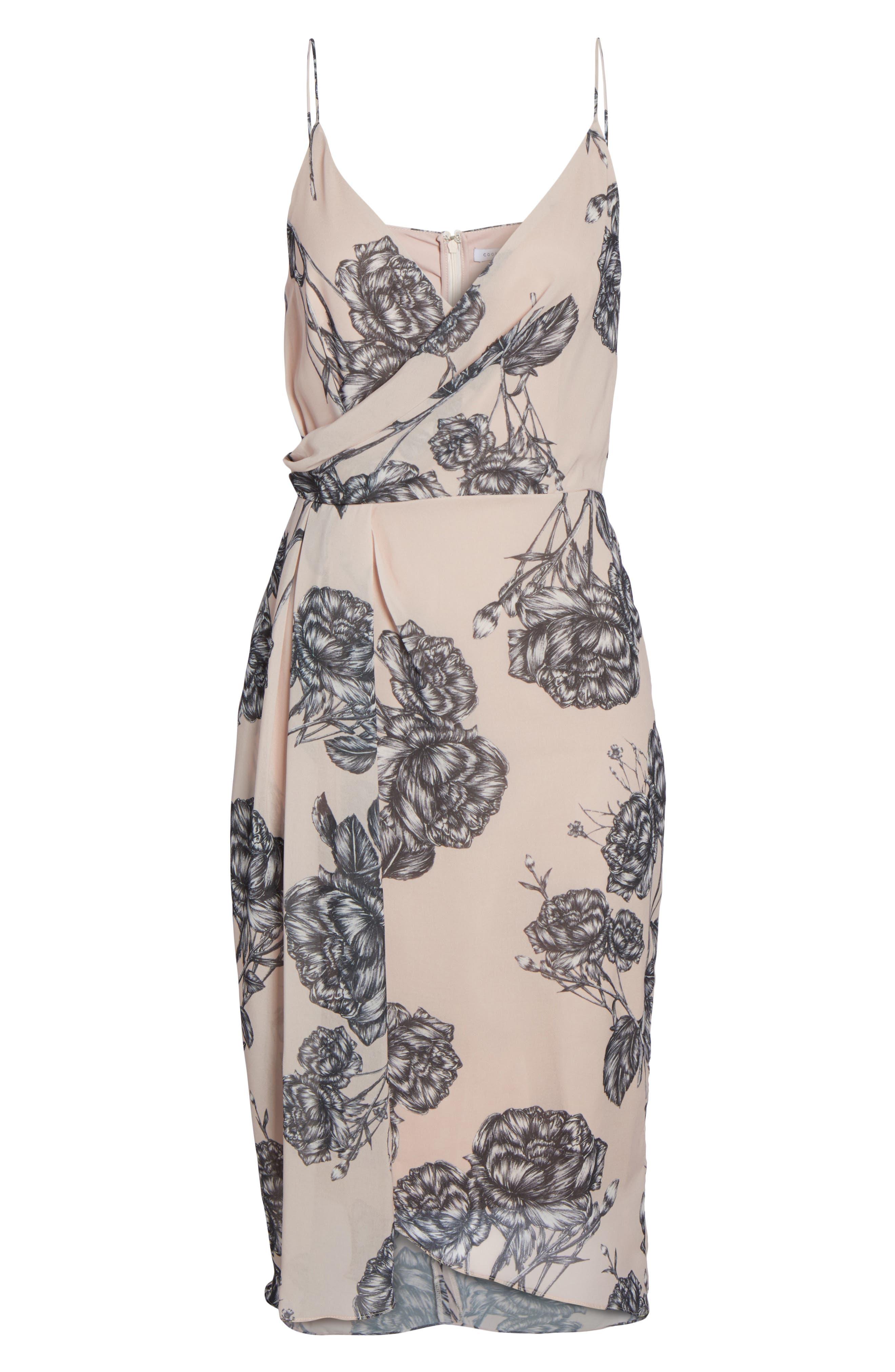 Bellini Rose Drape Dress,                             Alternate thumbnail 6, color,                             650
