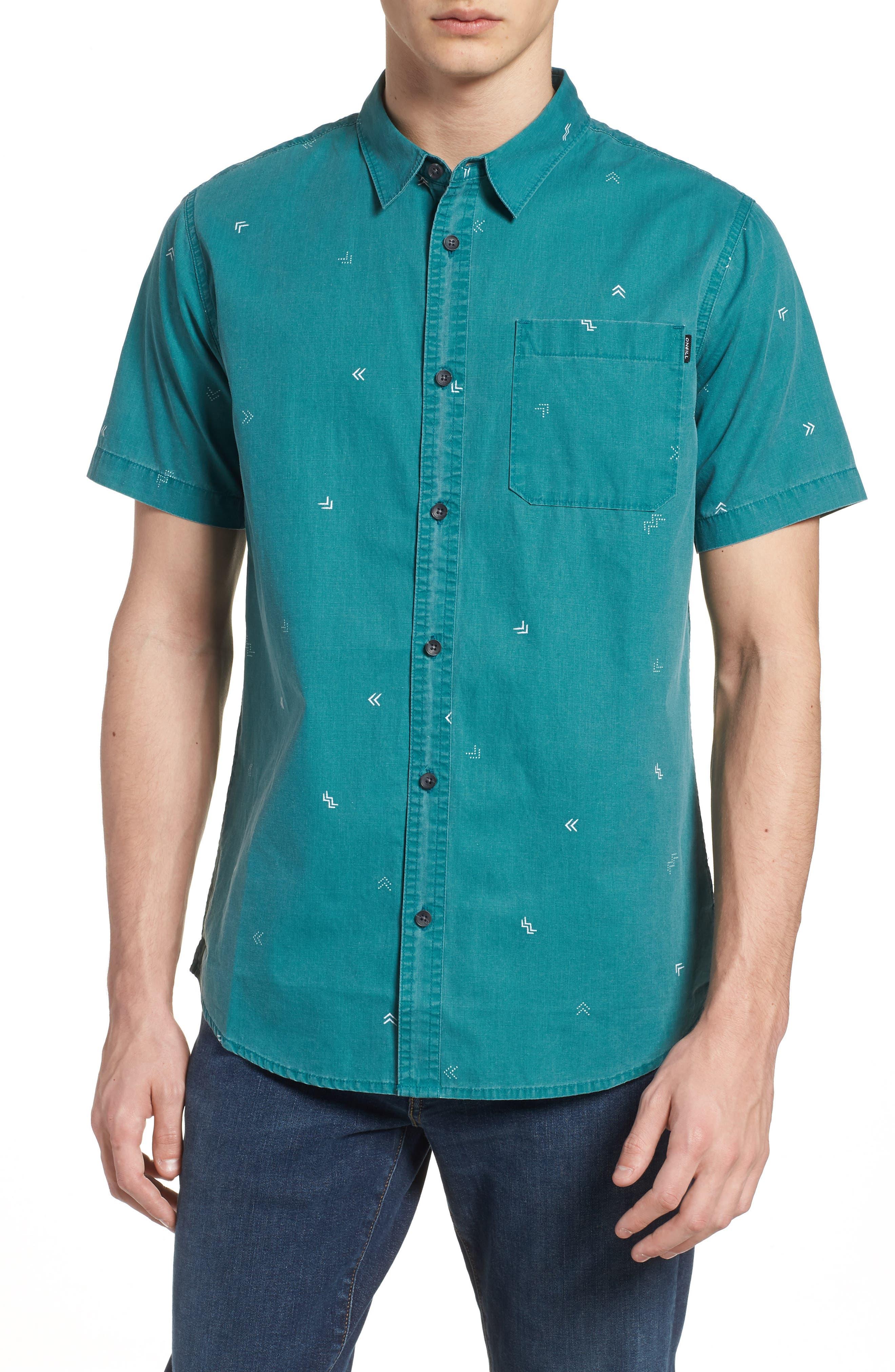 Kruger Woven Shirt,                             Main thumbnail 1, color,                             JADE