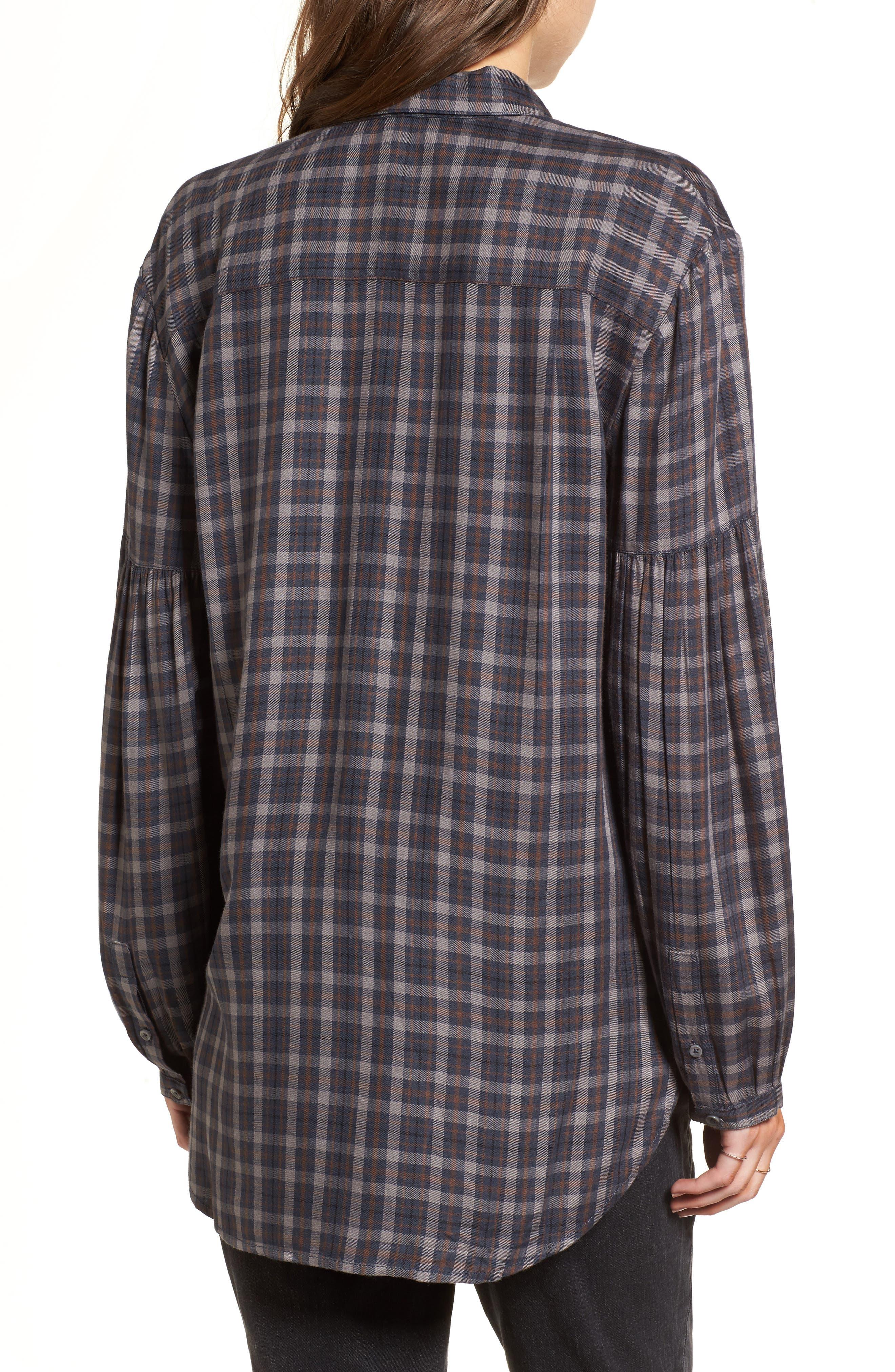 Puff Sleeve Boyfriend Shirt,                             Alternate thumbnail 2, color,                             400
