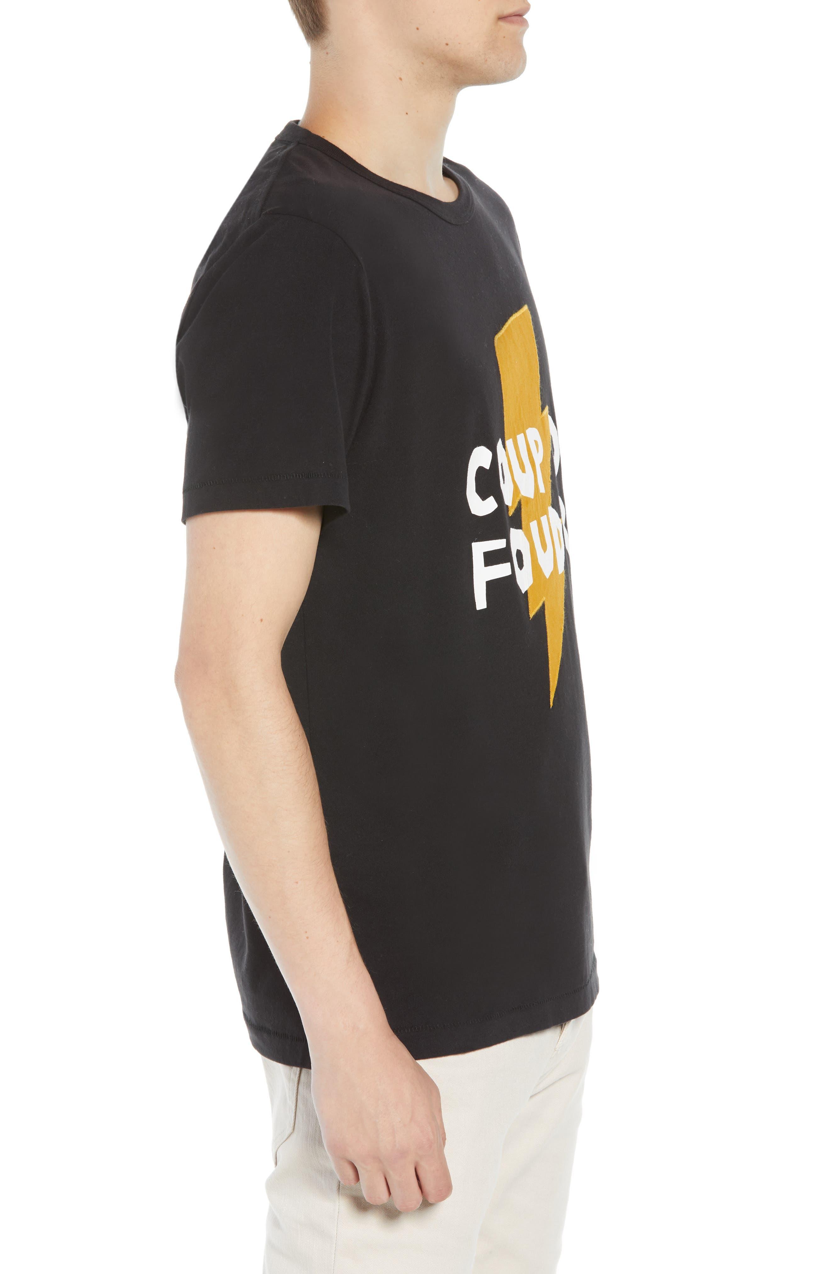 Love Struck T-Shirt,                             Alternate thumbnail 3, color,                             BLACK CALLUNA YELLOW WHITE