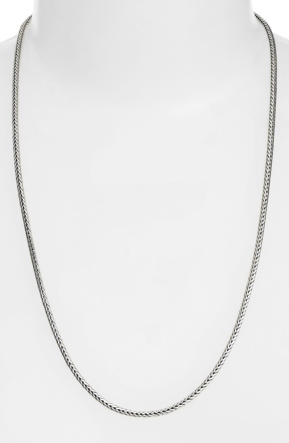 Herringbone Chain,                             Main thumbnail 1, color,                             SILVER