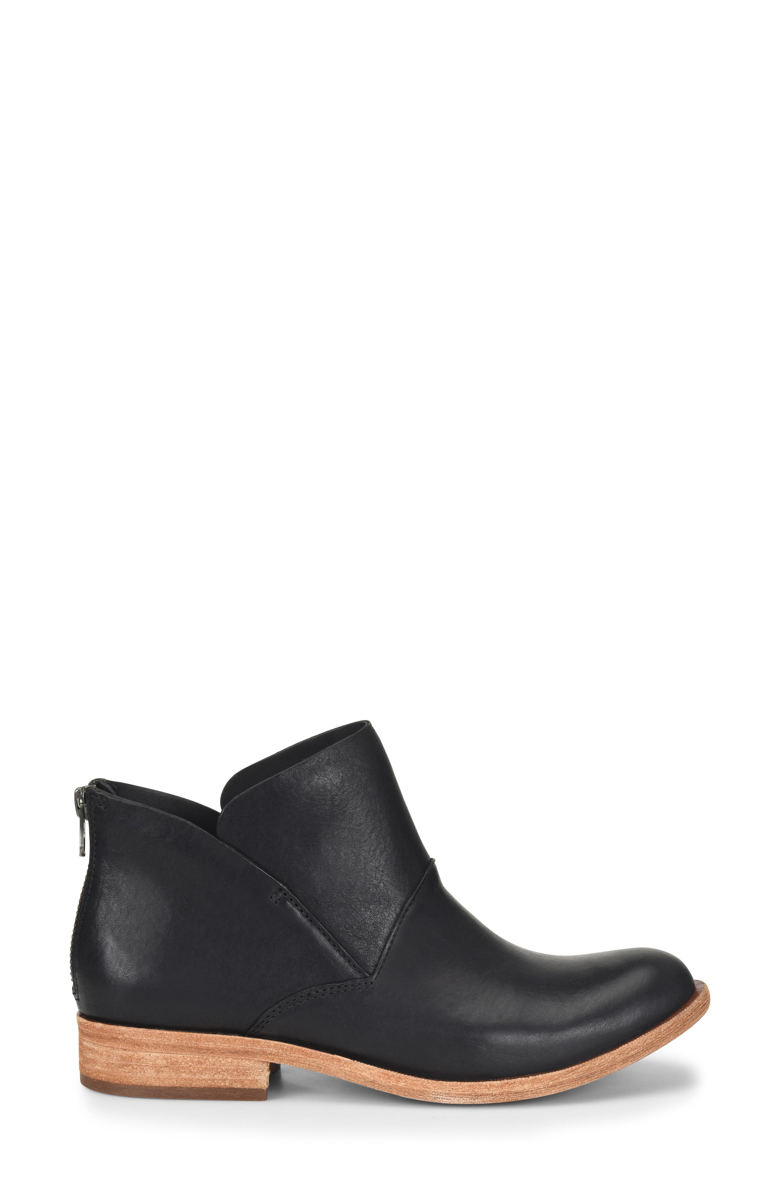 Ryder Ankle Boot,                             Alternate thumbnail 3, color,                             BLACK LEATHER