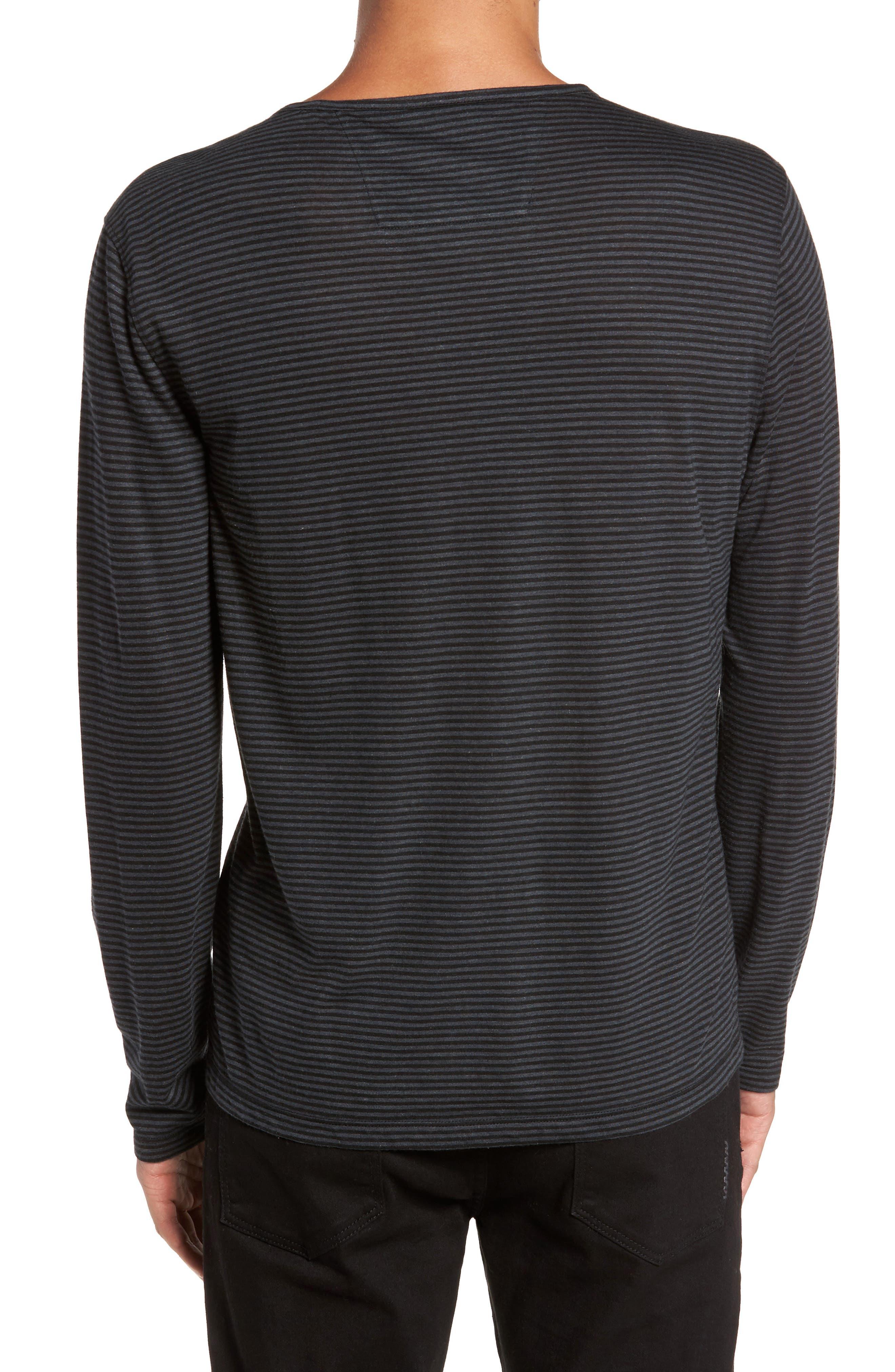 Stripe Long Sleeve T-Shirt,                             Alternate thumbnail 2, color,                             001