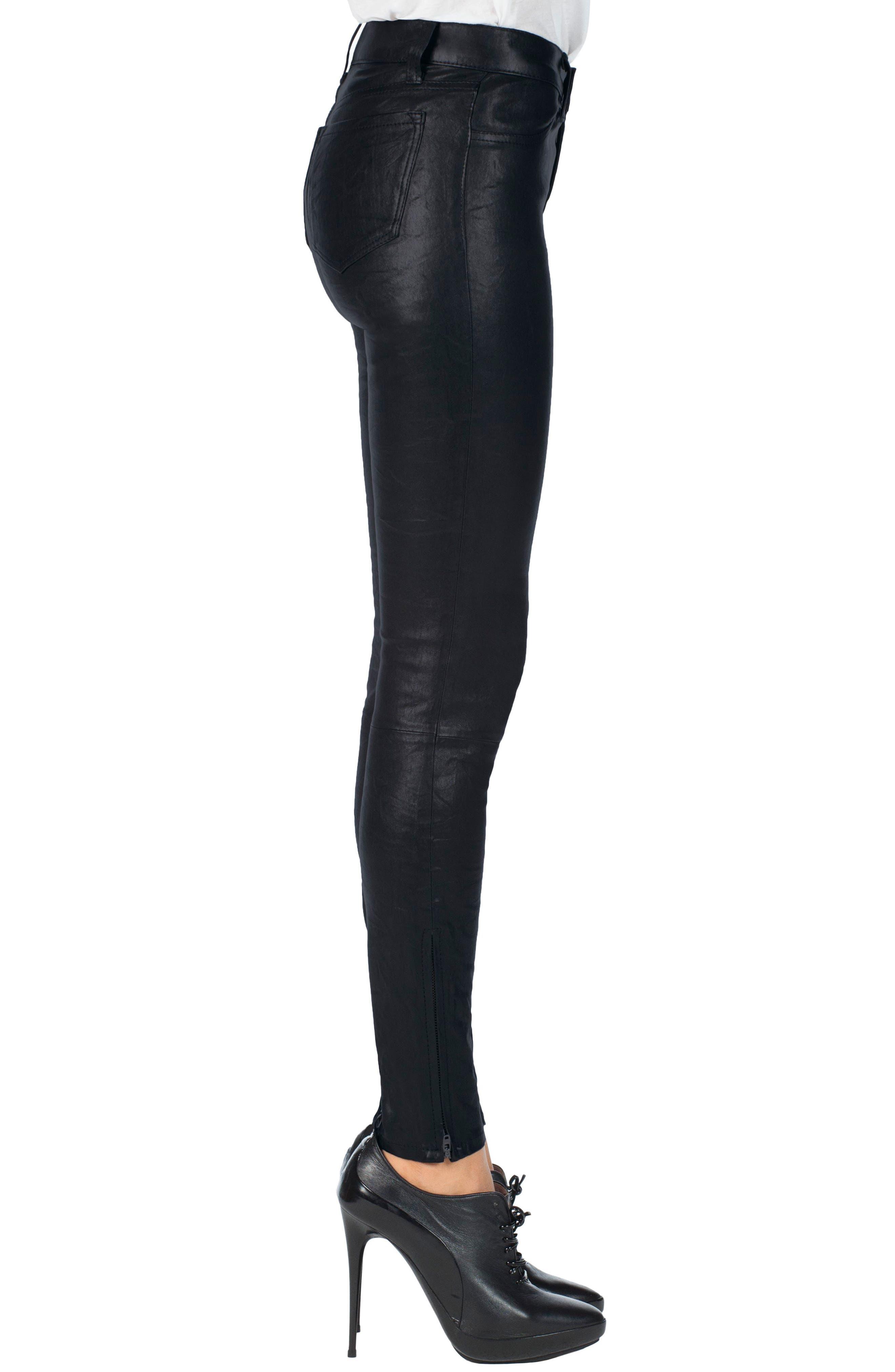 '8001' Lambskin Leather Pants,                             Alternate thumbnail 58, color,