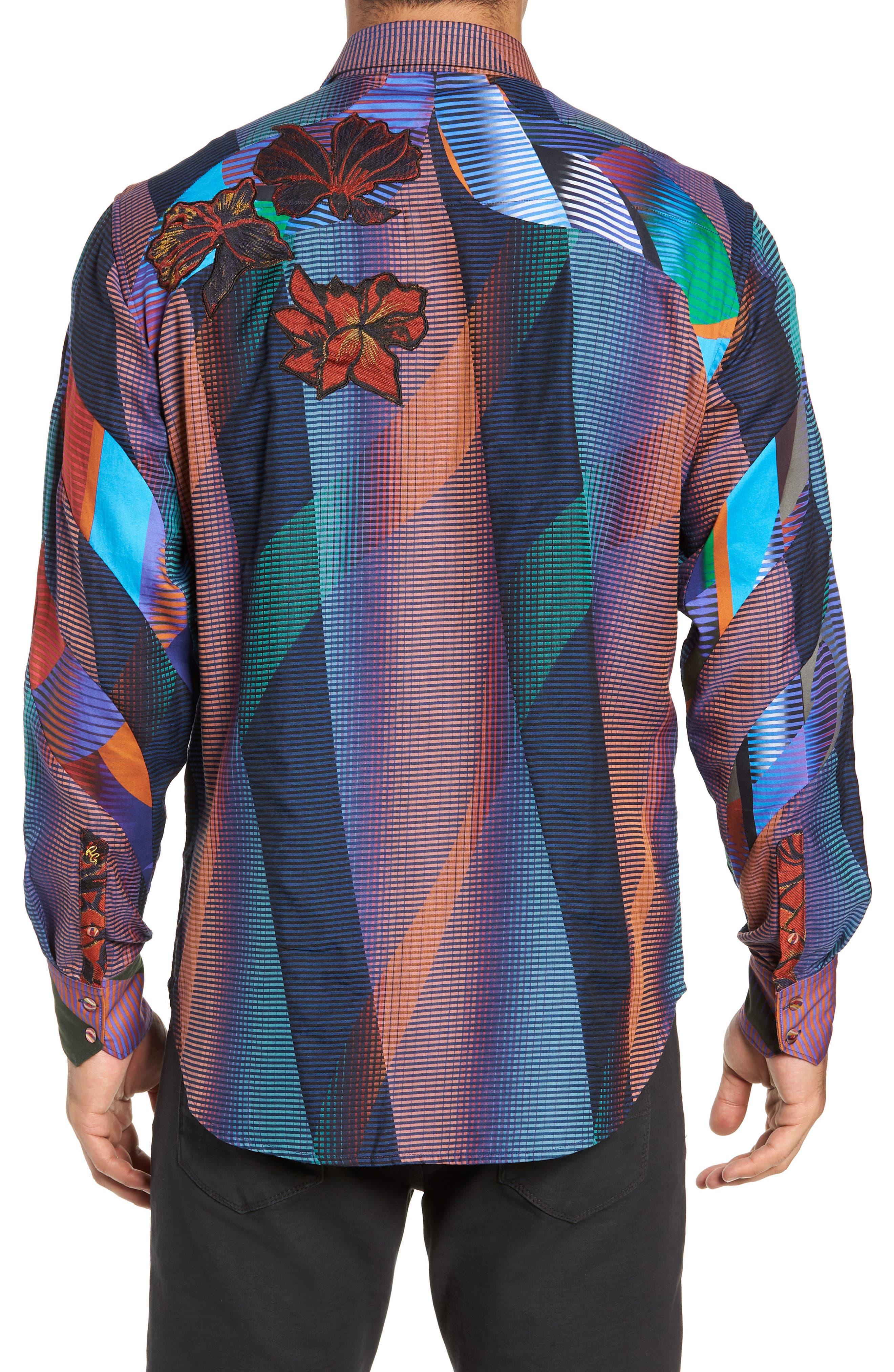 Canyon Flower Classic Fit Sport Shirt,                             Alternate thumbnail 3, color,                             MULTI