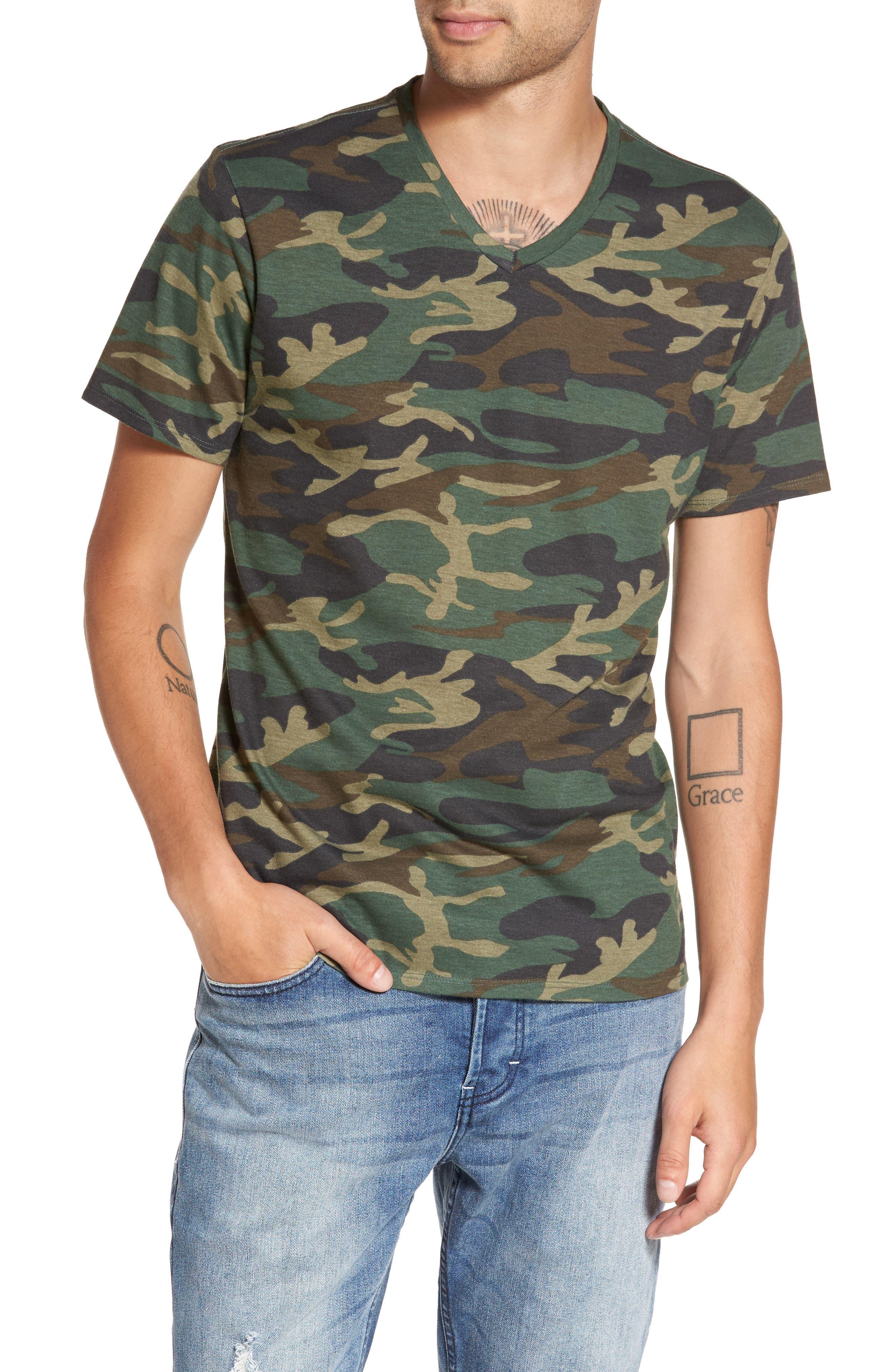 V-Neck T-Shirt,                             Main thumbnail 3, color,
