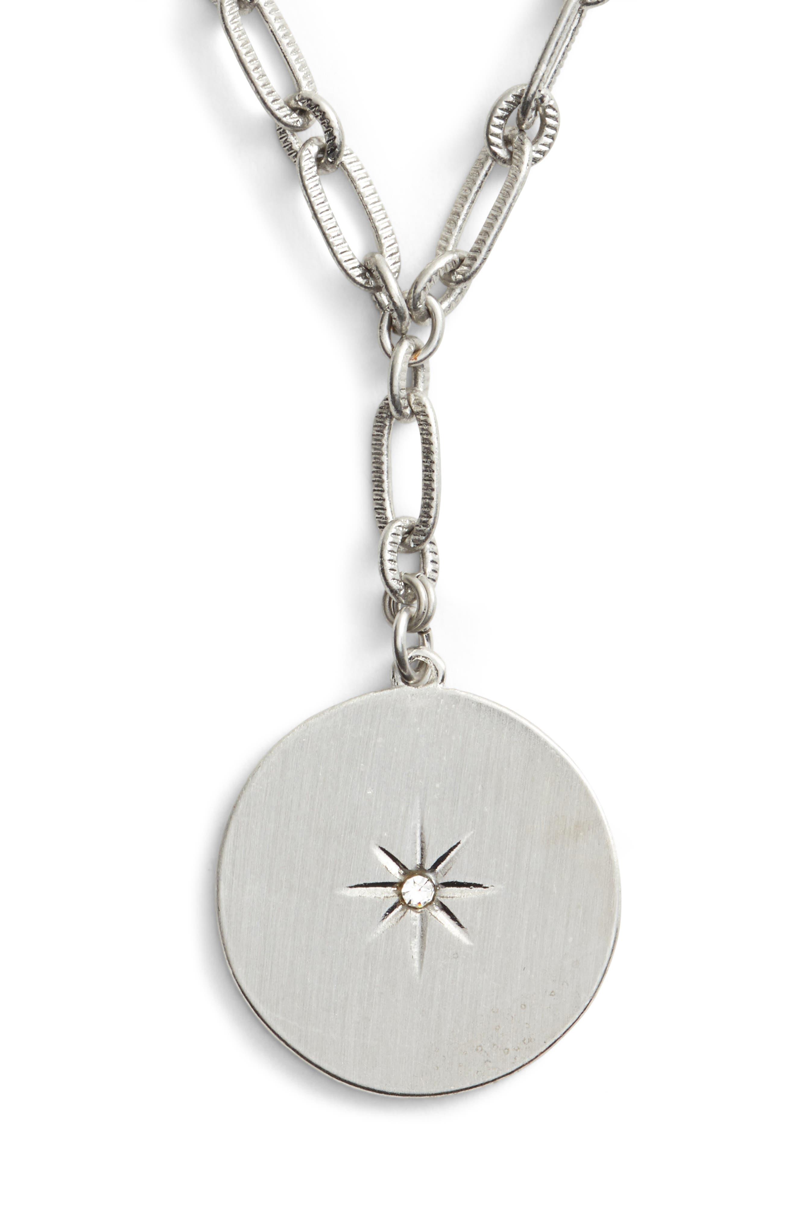 Star Disc Short Y Necklace,                         Main,                         color, 040