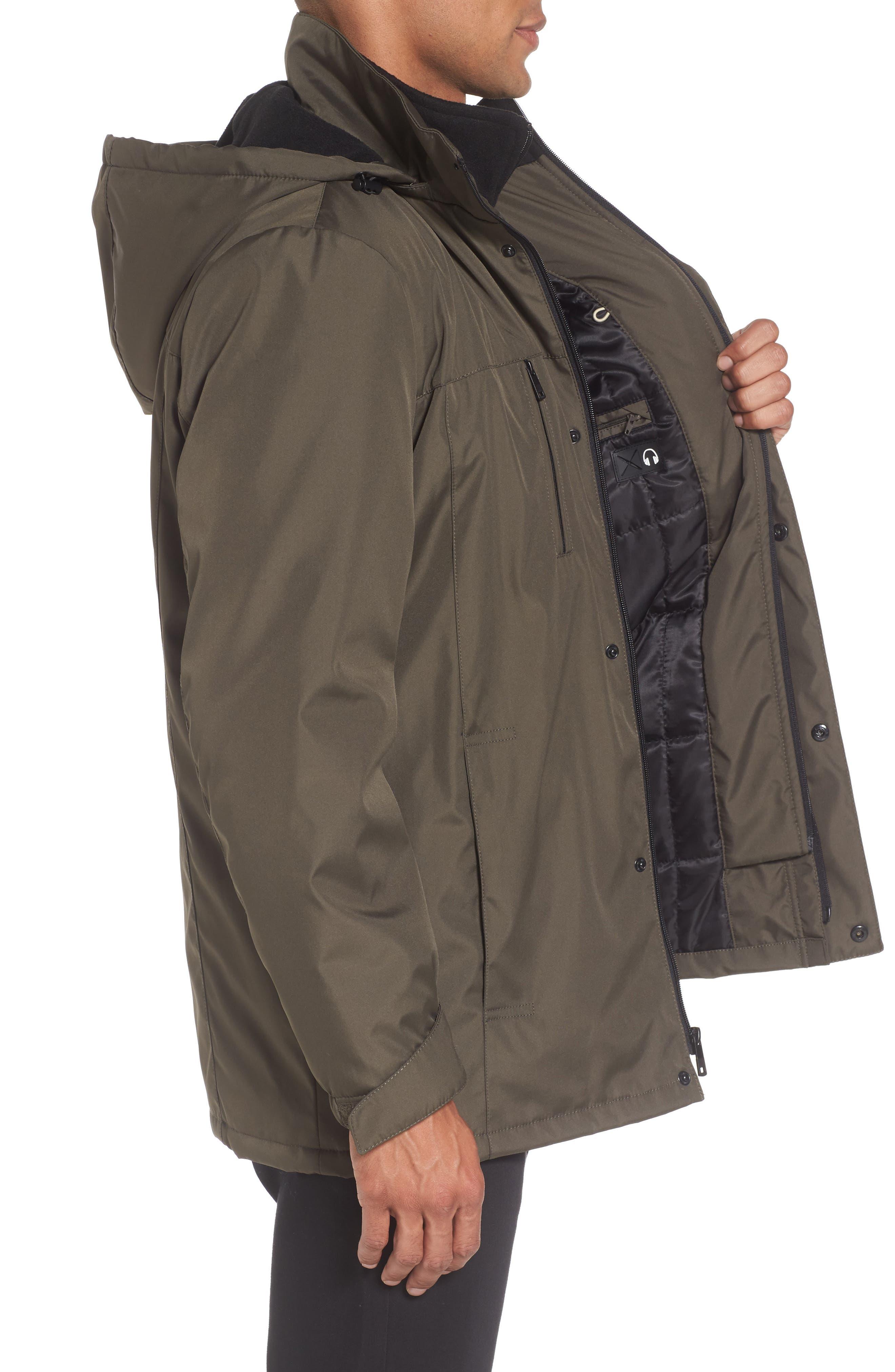 Hooded Jacket with Inset Fleece Bib,                             Alternate thumbnail 11, color,