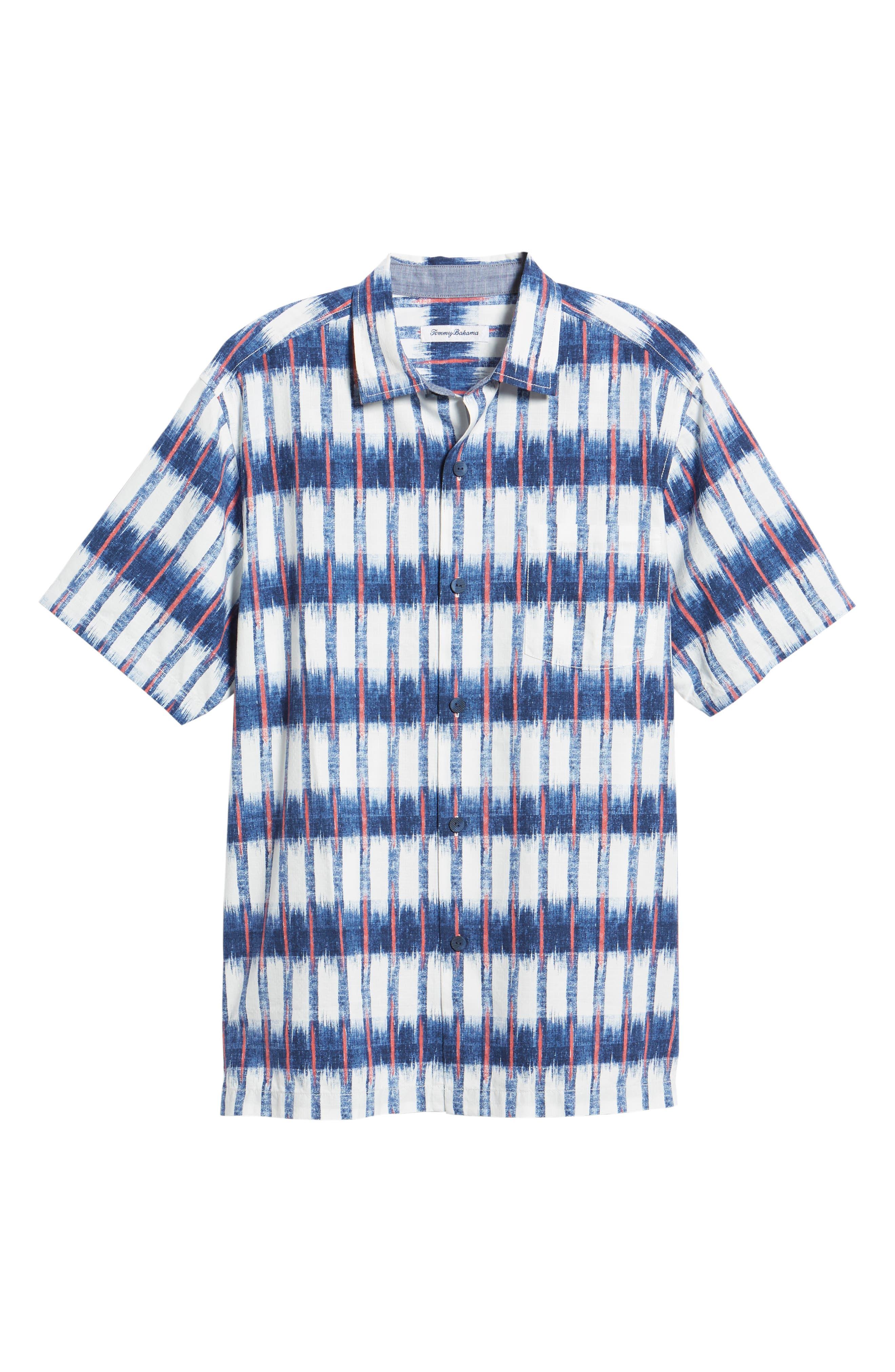 Fresco Falls Regular Fit Sport Shirt,                             Alternate thumbnail 5, color,                             DOCKSIDE BLUE