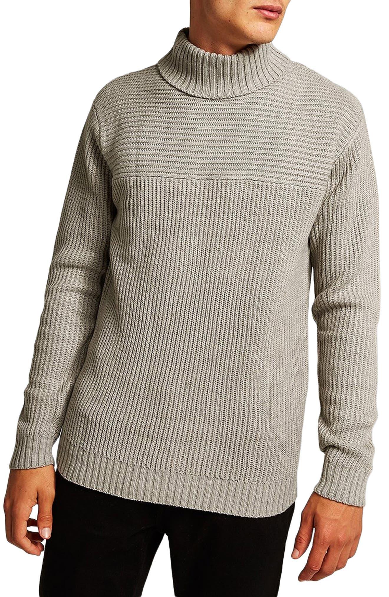 Flint Ribbed Turtleneck Sweater,                         Main,                         color, 020