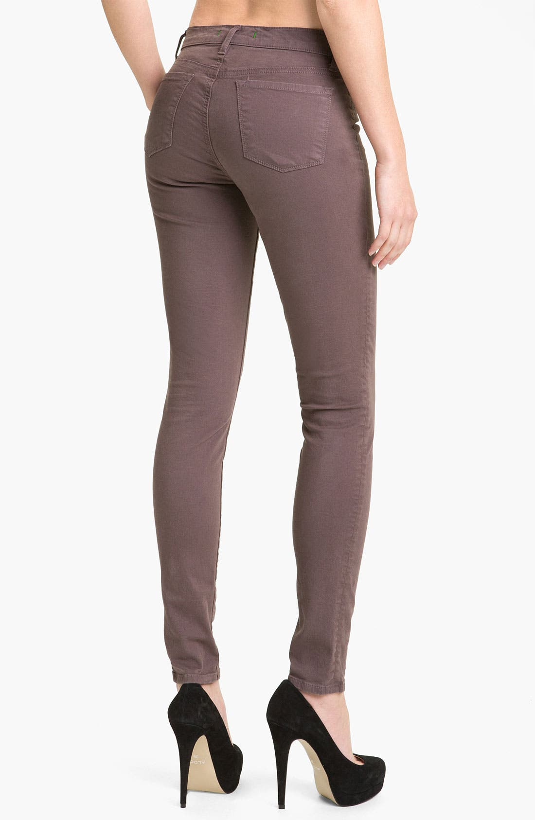 Skinny Stretch Twill Pants,                             Alternate thumbnail 3, color,                             020
