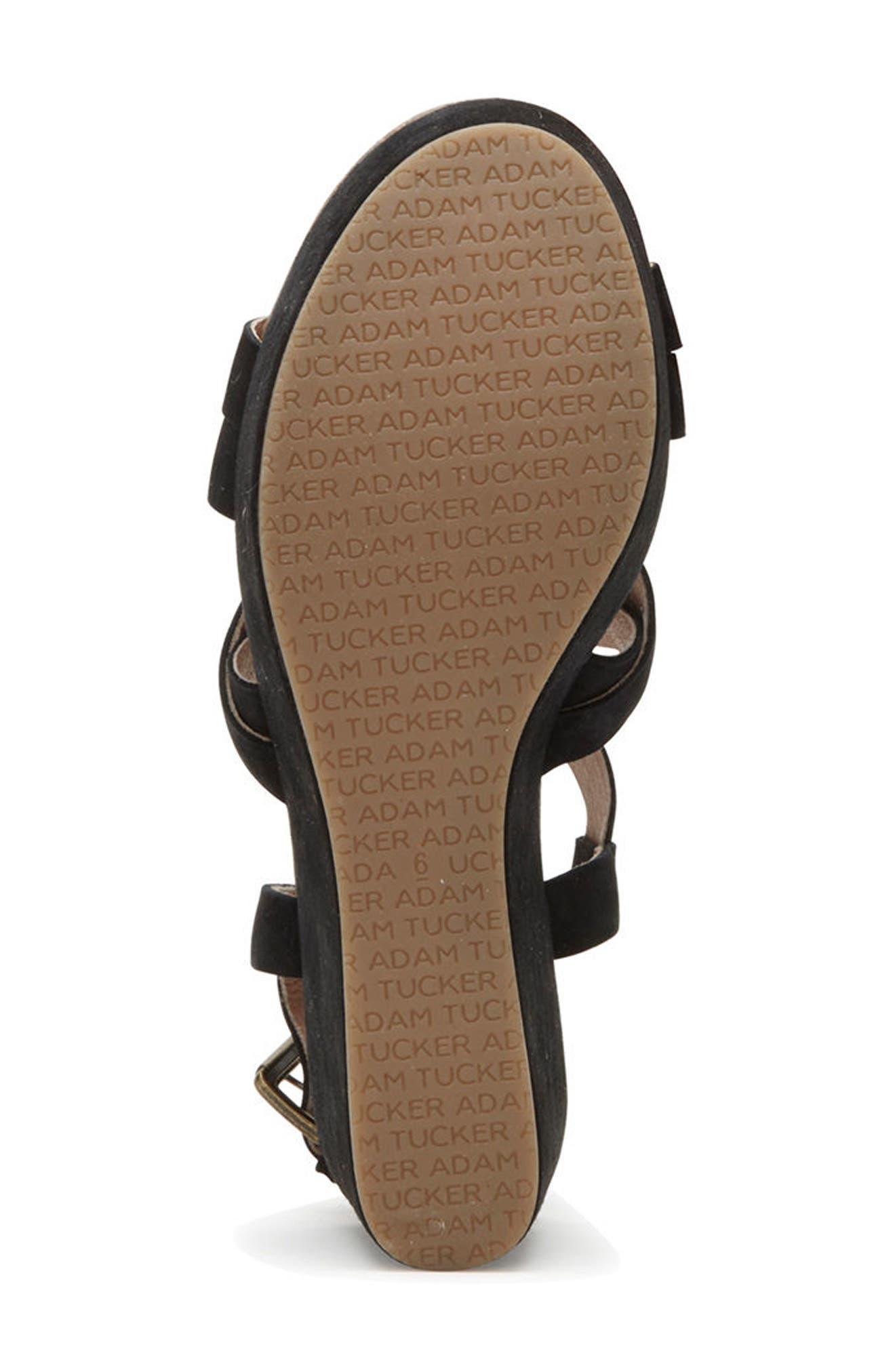 Adam Tucker Bria Strappy Sandal,                             Alternate thumbnail 6, color,                             014
