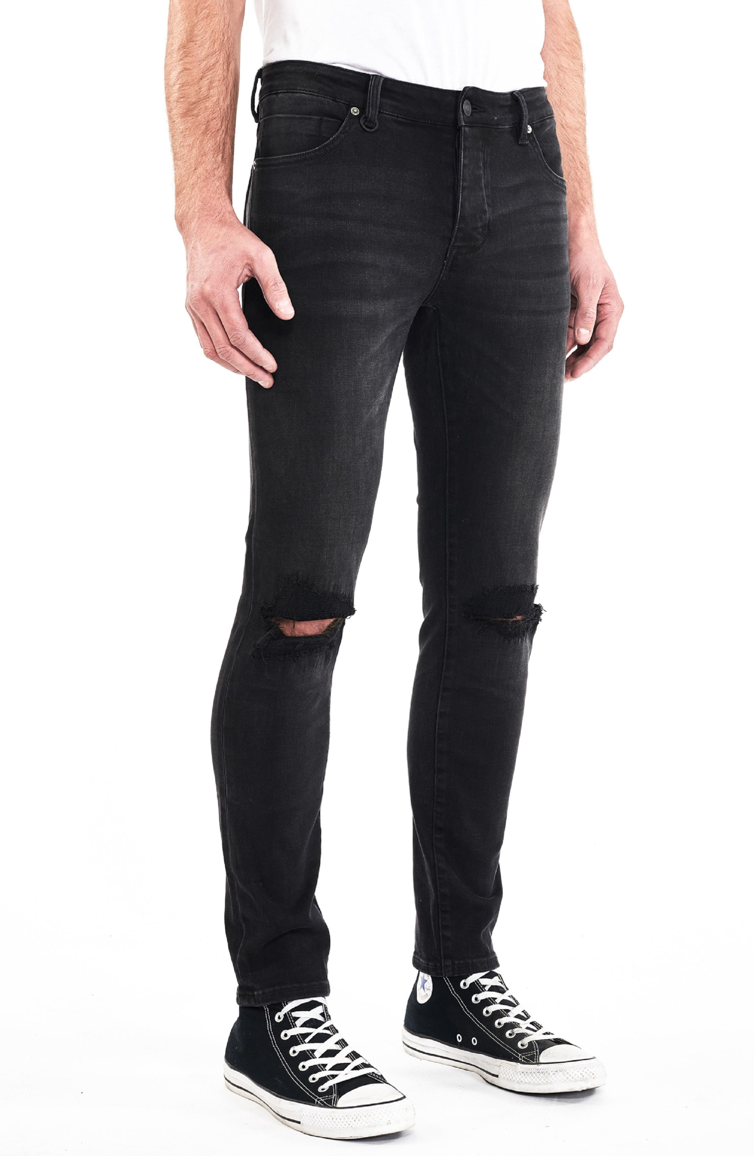 NEUW,                             Ray Slouchy Slim Fit Jeans,                             Alternate thumbnail 3, color,                             001