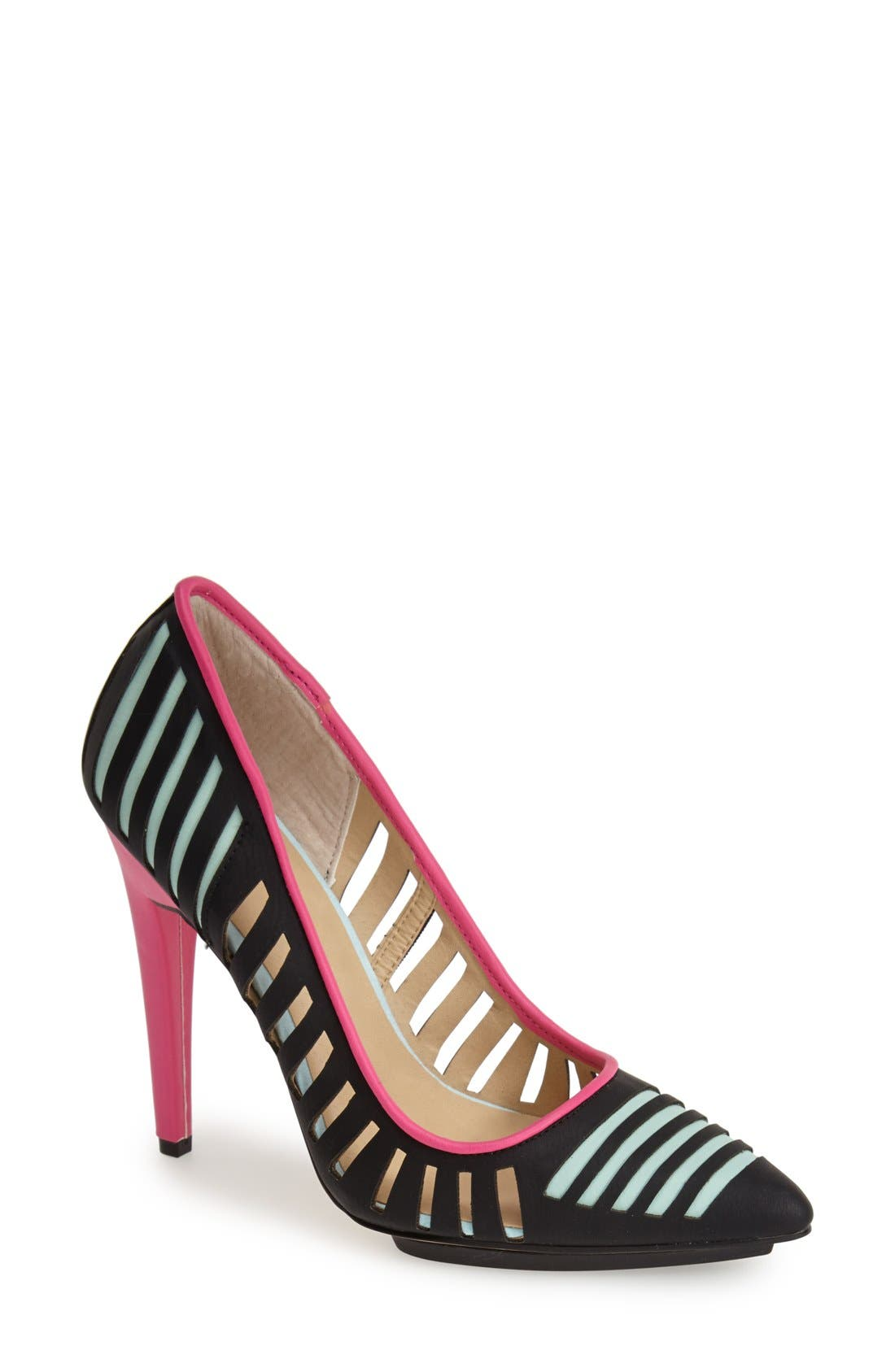'Addie' Pointy Toe Pump,                             Main thumbnail 1, color,                             001
