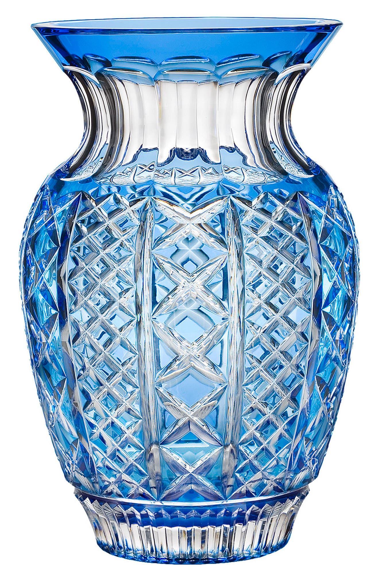 Fleurology Jeff Leatham Molly Blue Bouquet Vase,                             Main thumbnail 1, color,