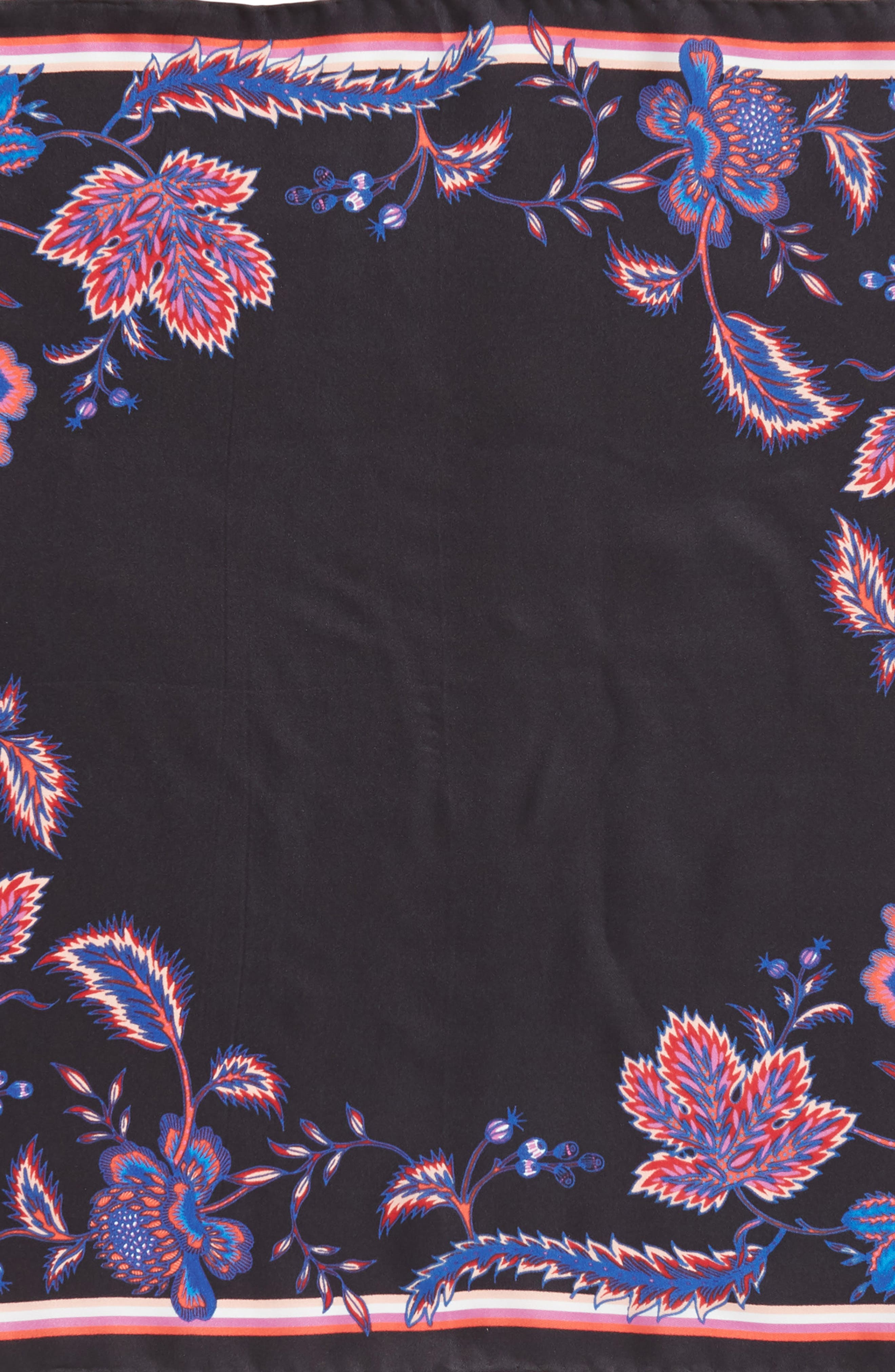 Hypnotic Floral Bandana,                             Alternate thumbnail 4, color,                             BLACK