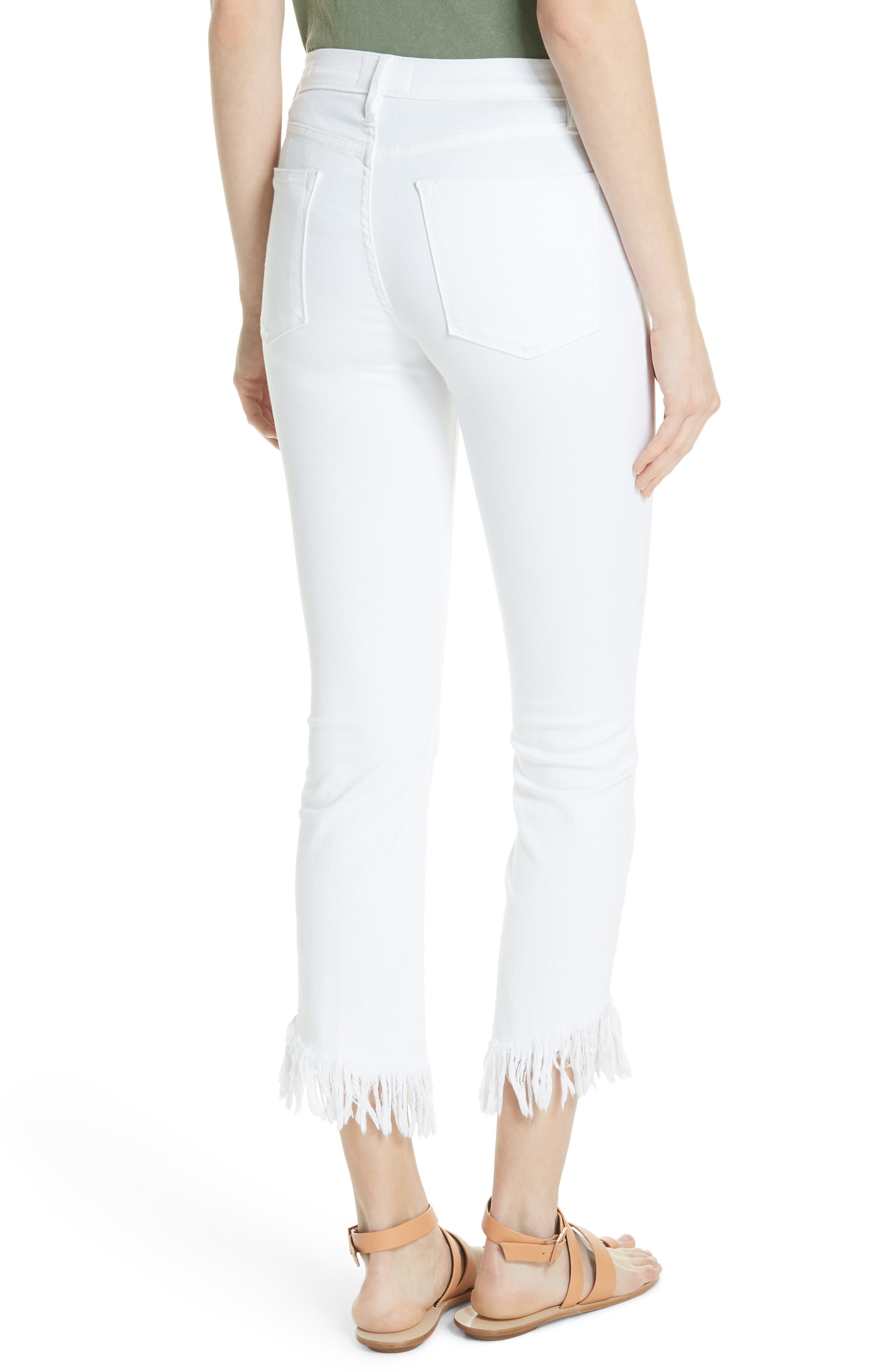 Le High Shredded Straight Leg Jeans,                             Alternate thumbnail 2, color,                             199