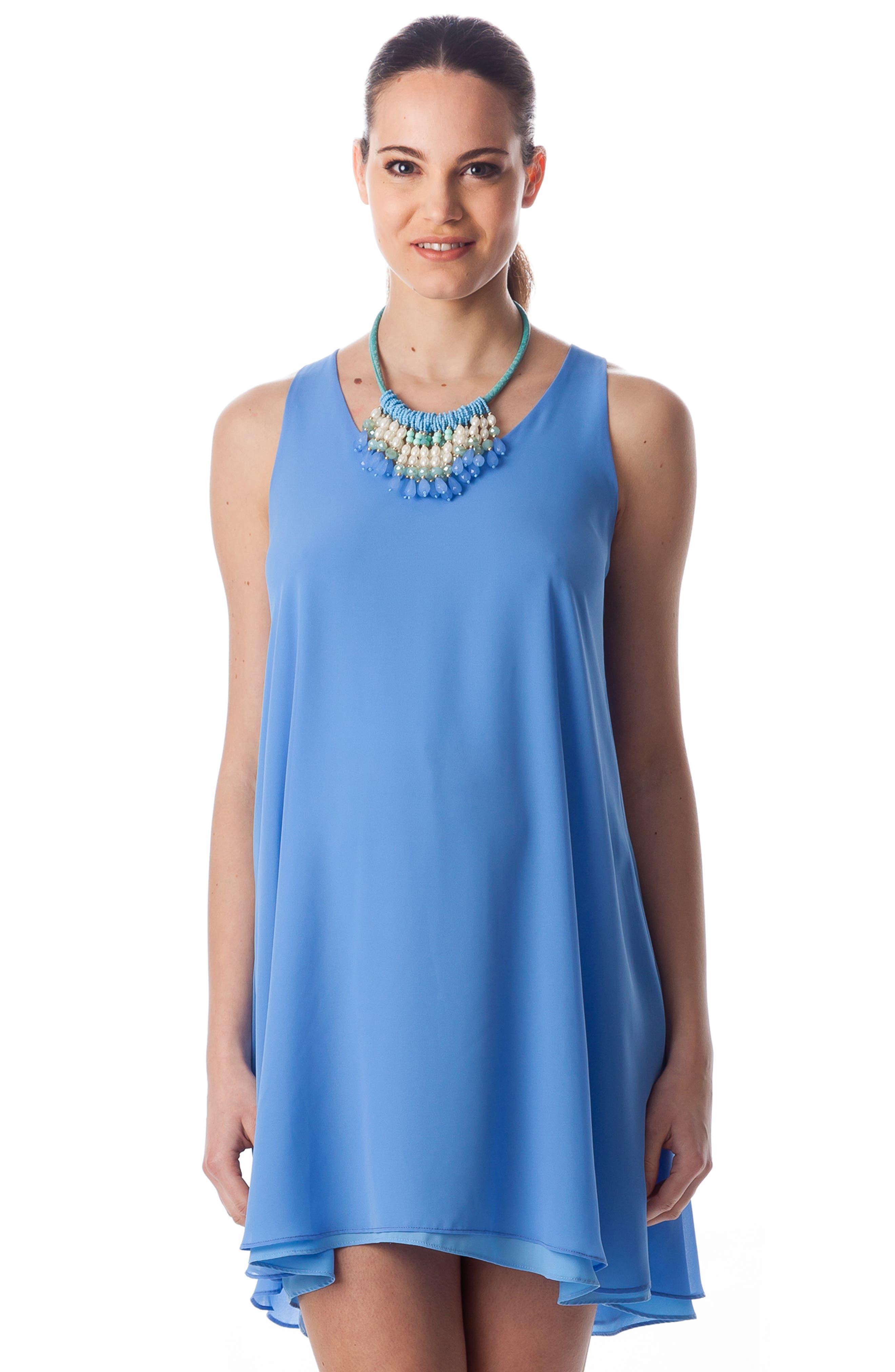 'Lago Di Como' High/Low Maternity Dress,                             Alternate thumbnail 2, color,                             440