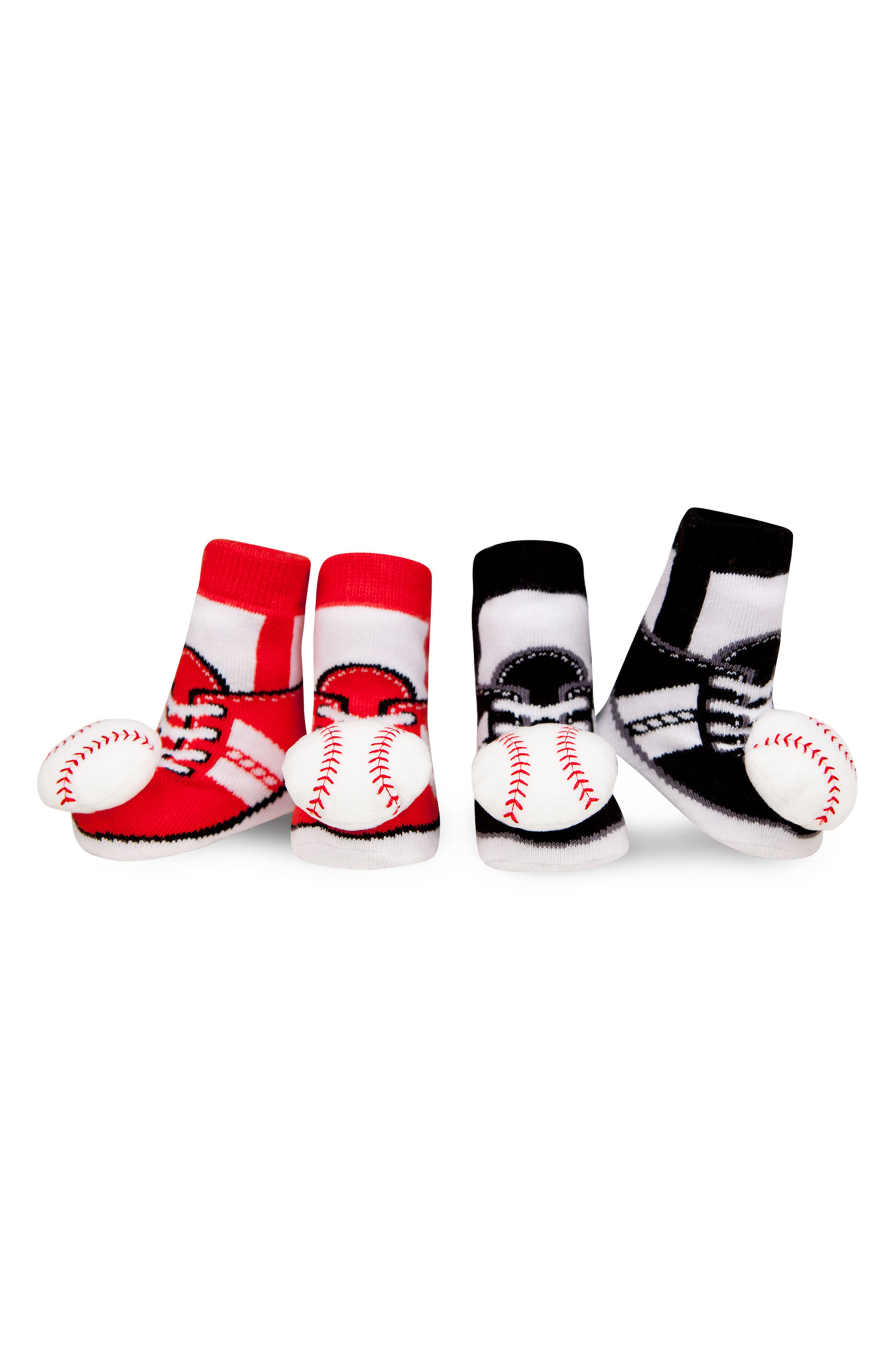 2-Pack Sport Rattle Socks,                             Main thumbnail 1, color,                             601